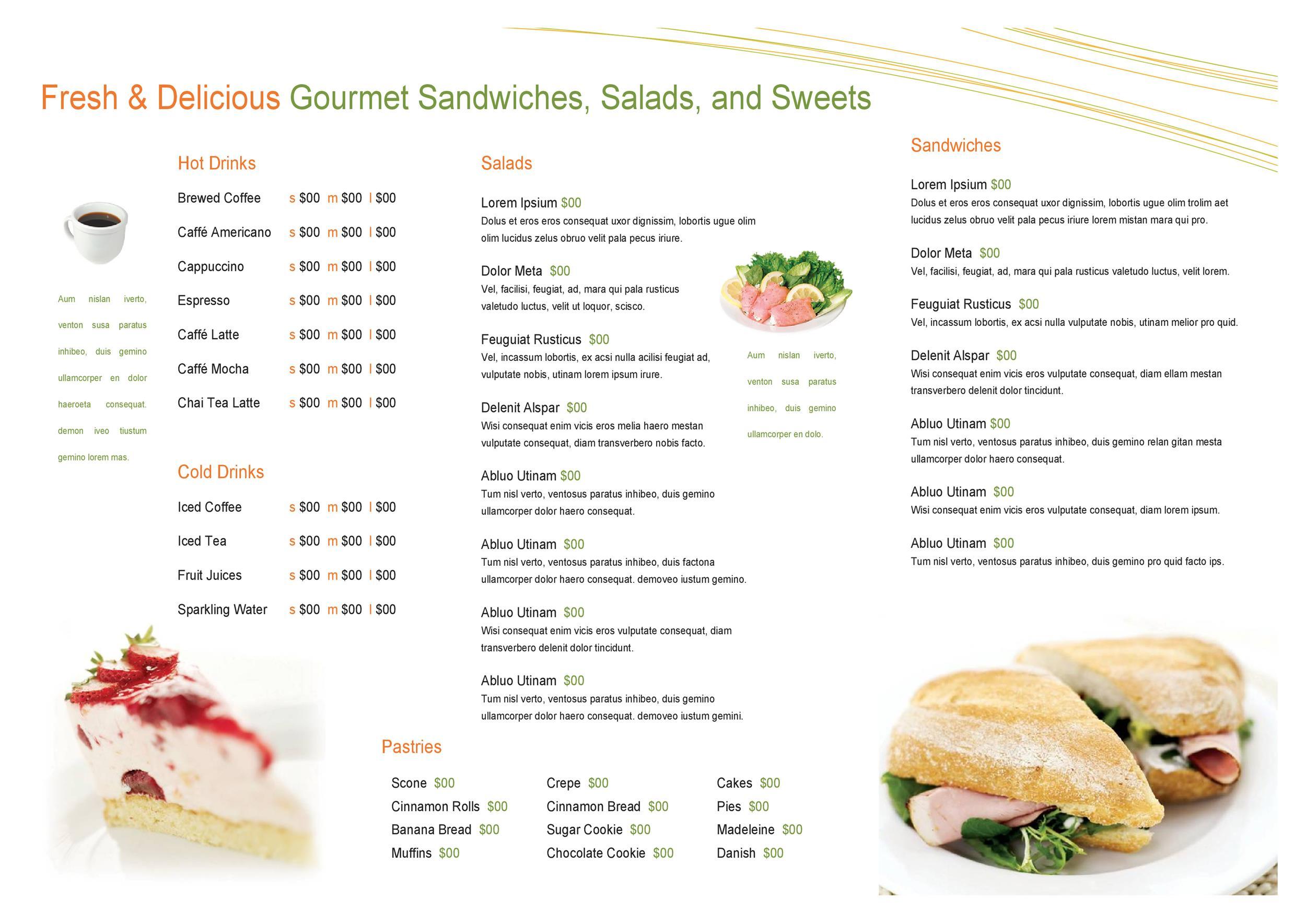 restaurants menu templates best samples templates