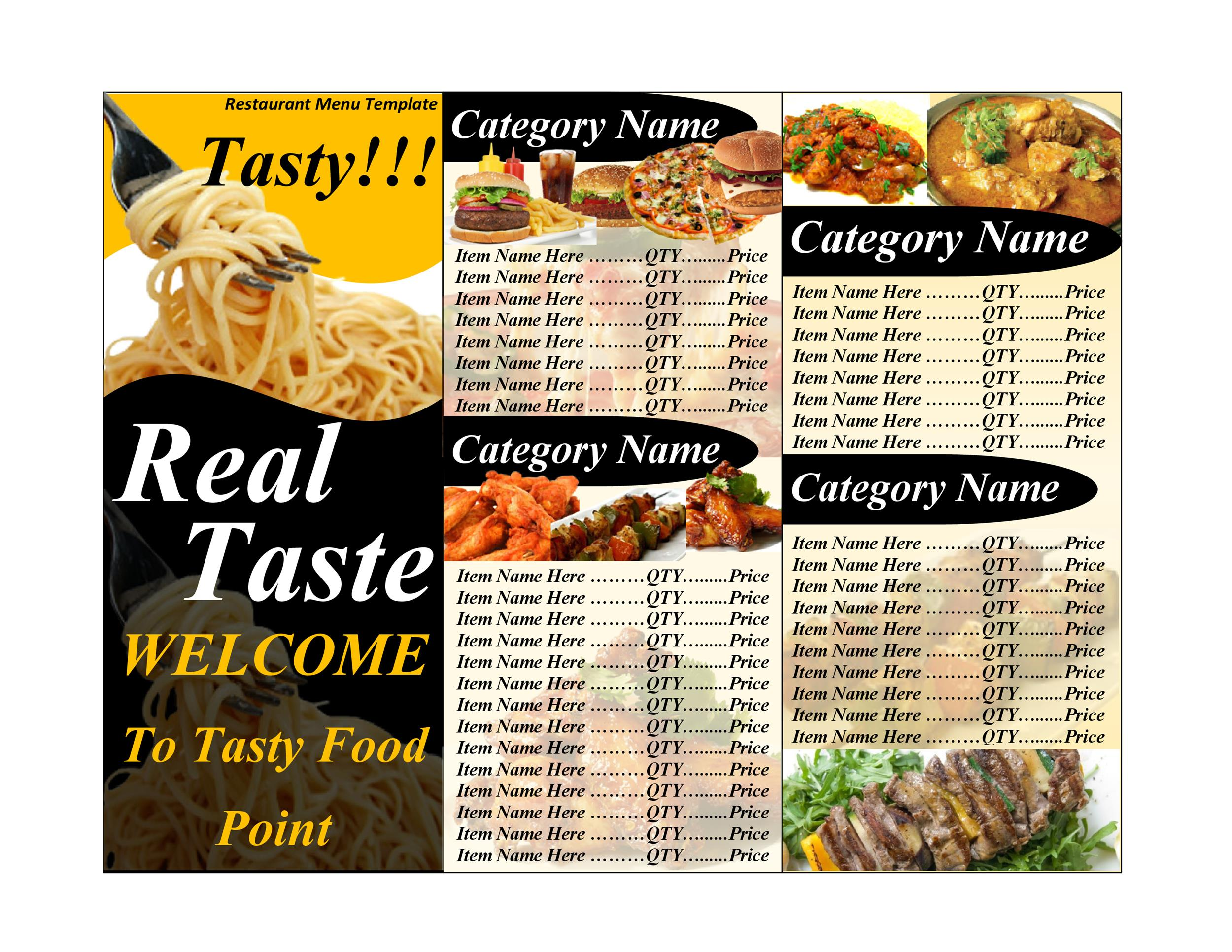 Doc464600 Restaurant Menu Template Word Restaurant Menu – How to Make a Restaurant Menu on Microsoft Word
