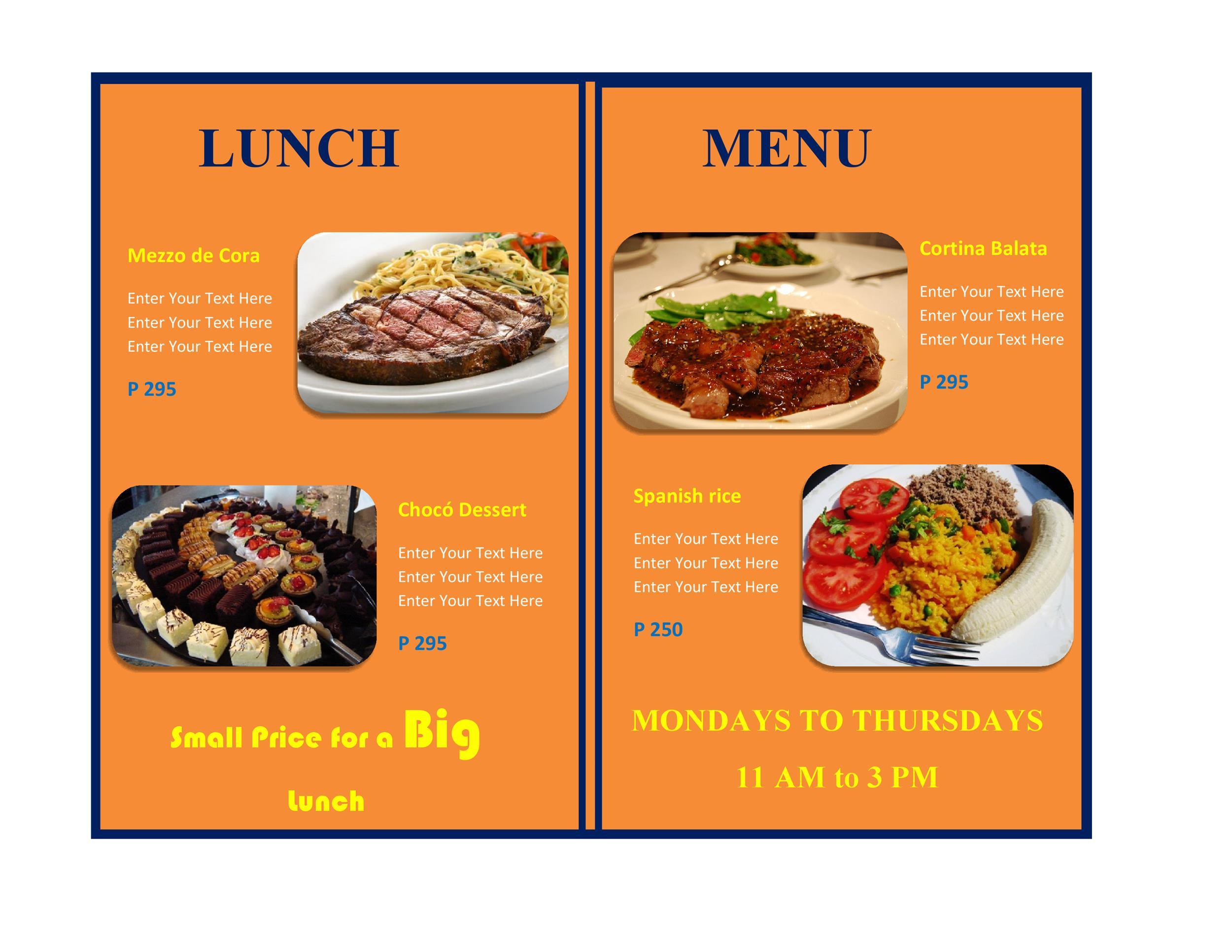 Restaurant menu templates designs template lab
