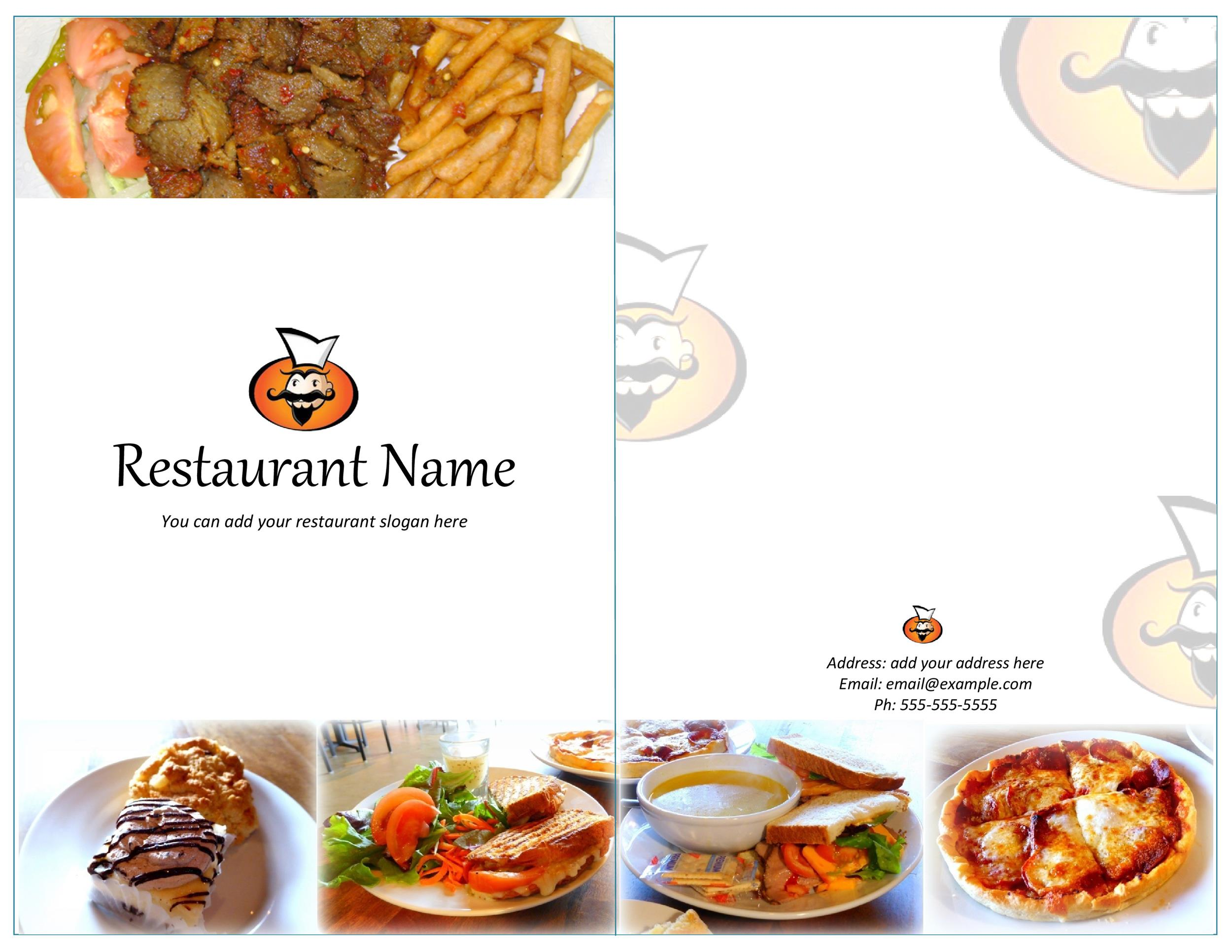 Restaurant Menu Design Templates Free Leoncapers