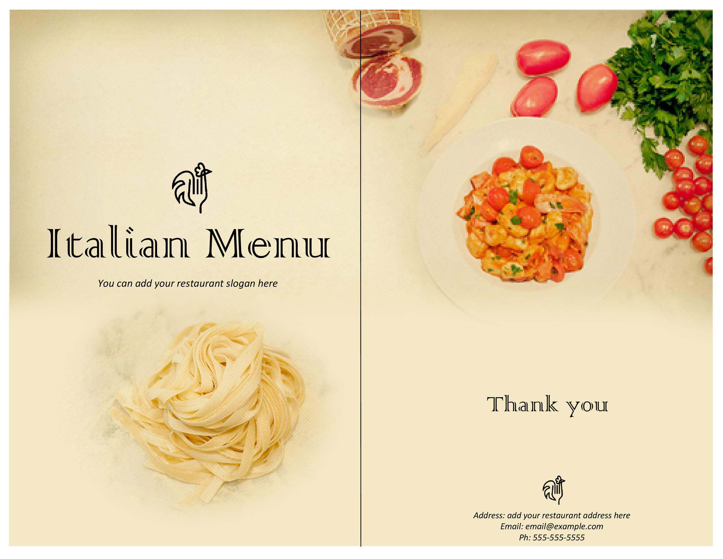 Restaurant Menu Templates Designs Template Lab - Take out menu template free