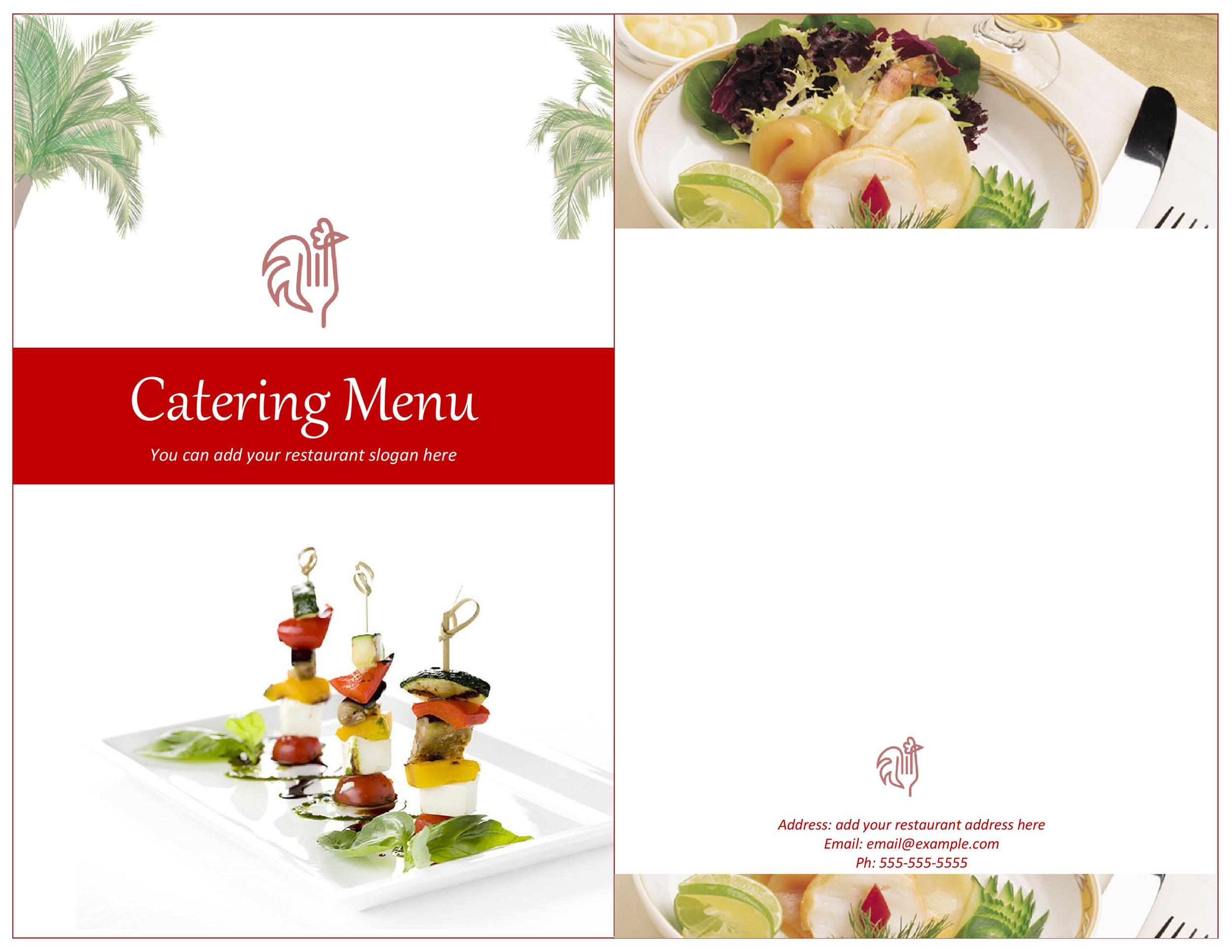Printable Menu Template 29  Free Menu Templates Printable