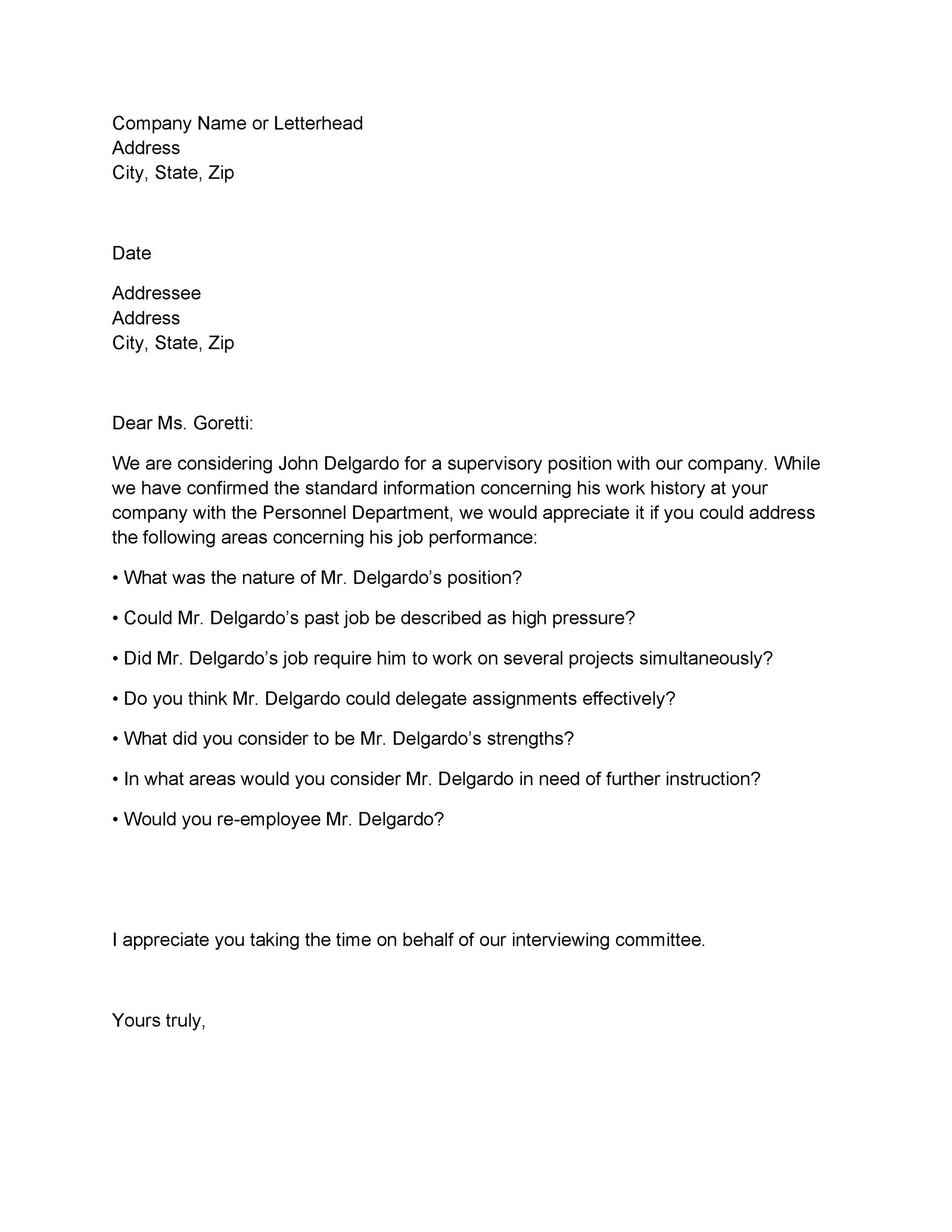 Free Proof of Employment Letter Template 23