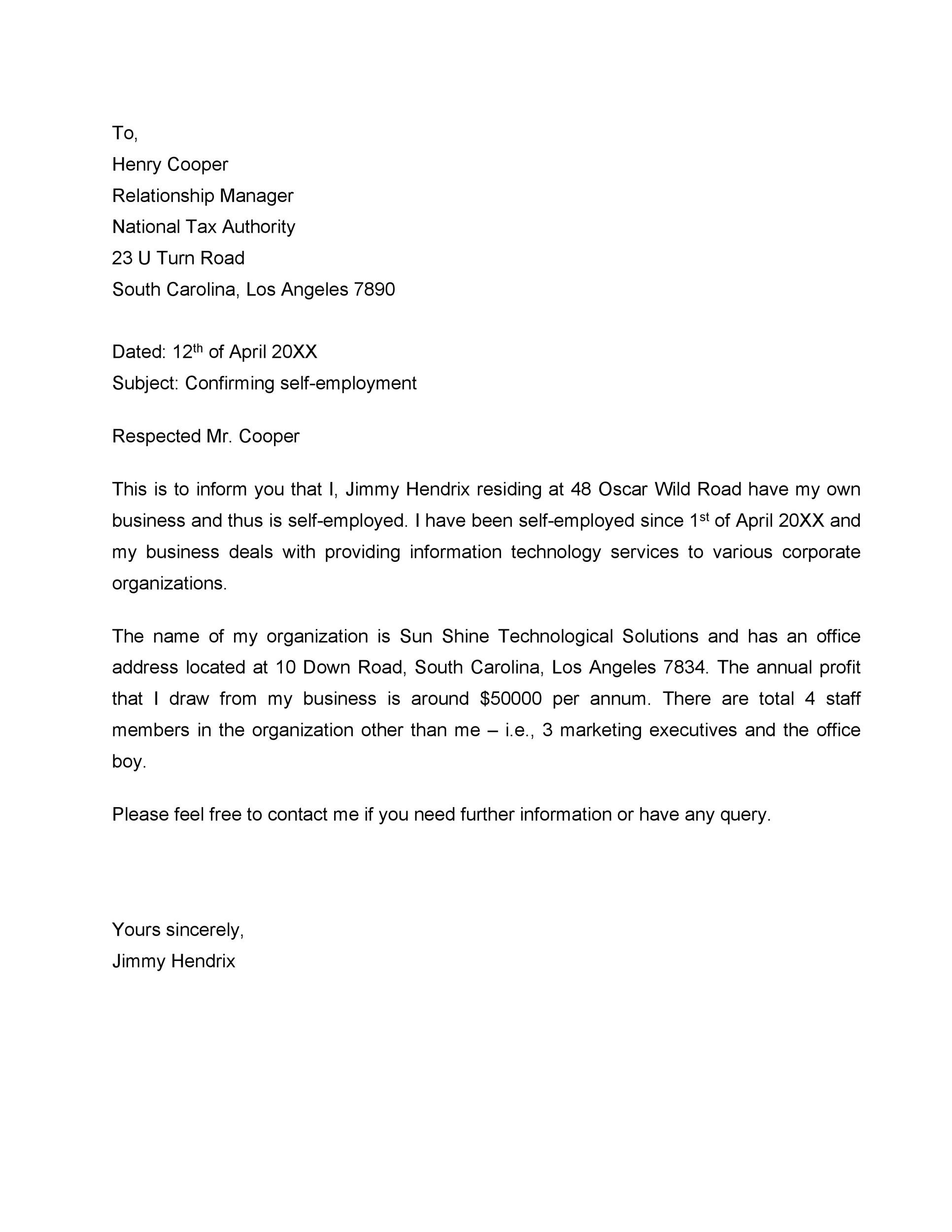 Printable Proof Of Employment Letter Template 38  Example Of A Letter