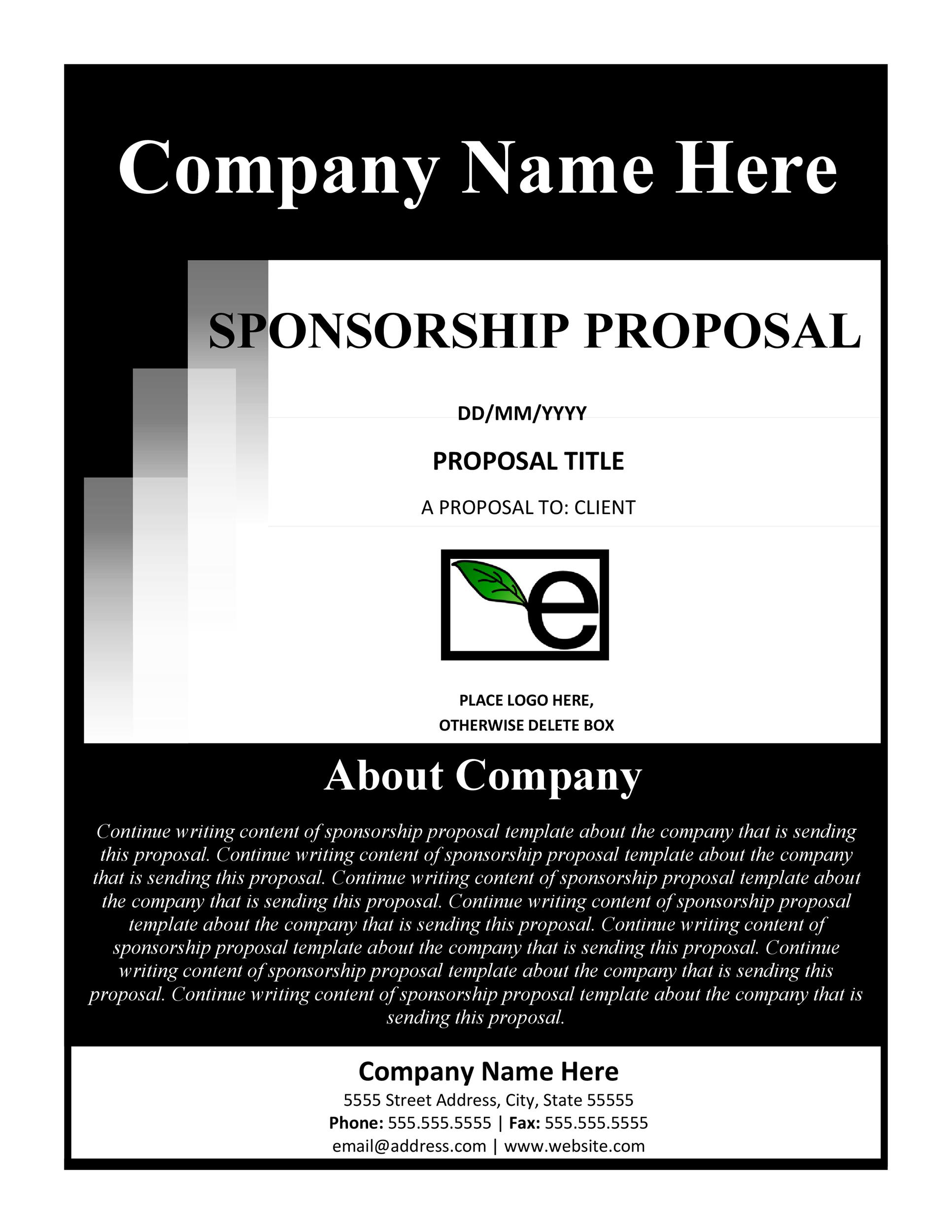 Printable Sponsorship Letter Template 28