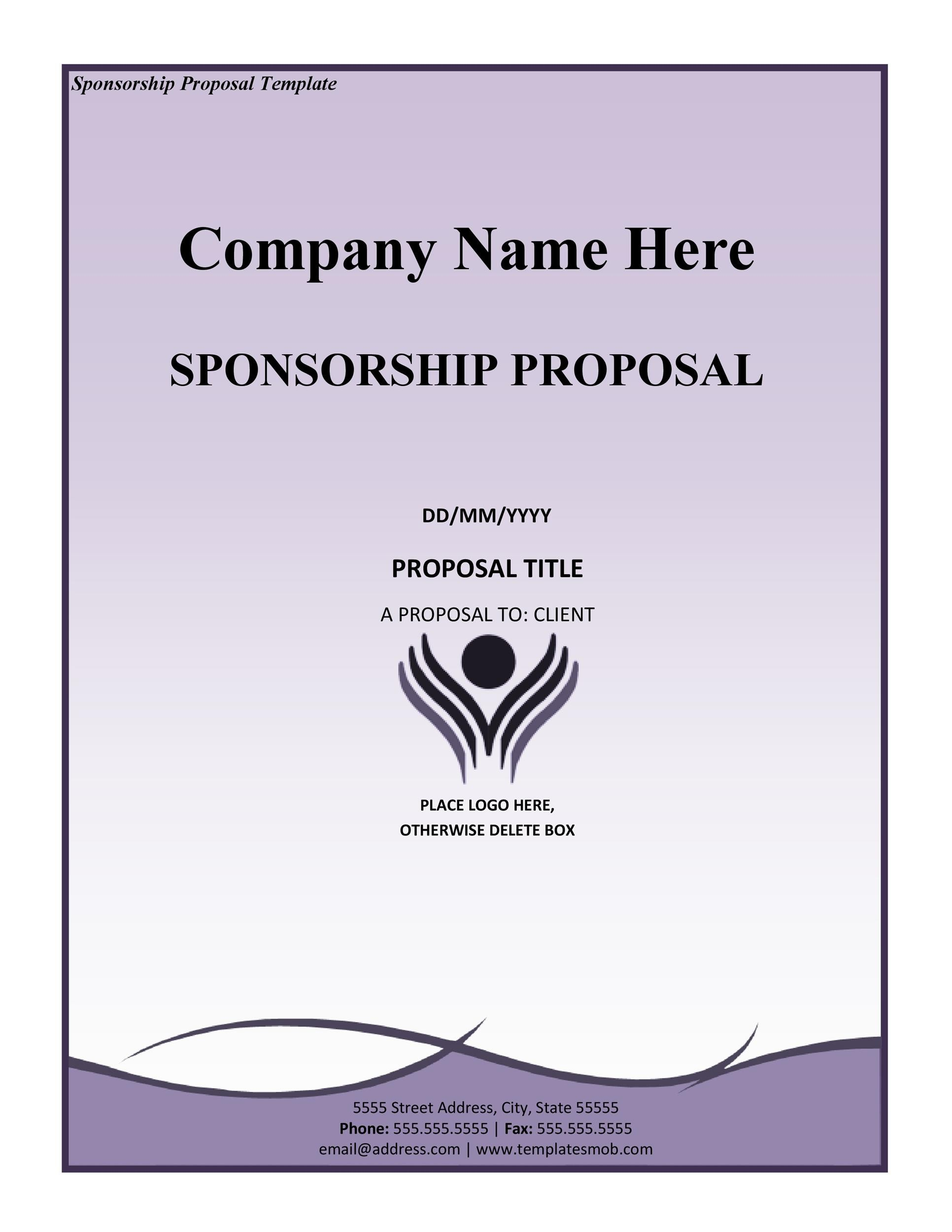 40 Sponsorship Letter Sponsorship Proposal Templates – Example of a Sponsorship Proposal
