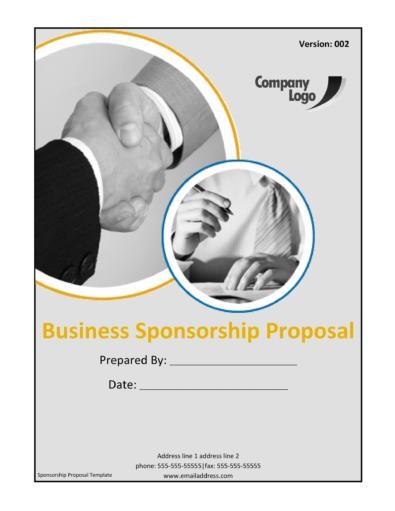 Sponsorship Letter & Proposal Templates
