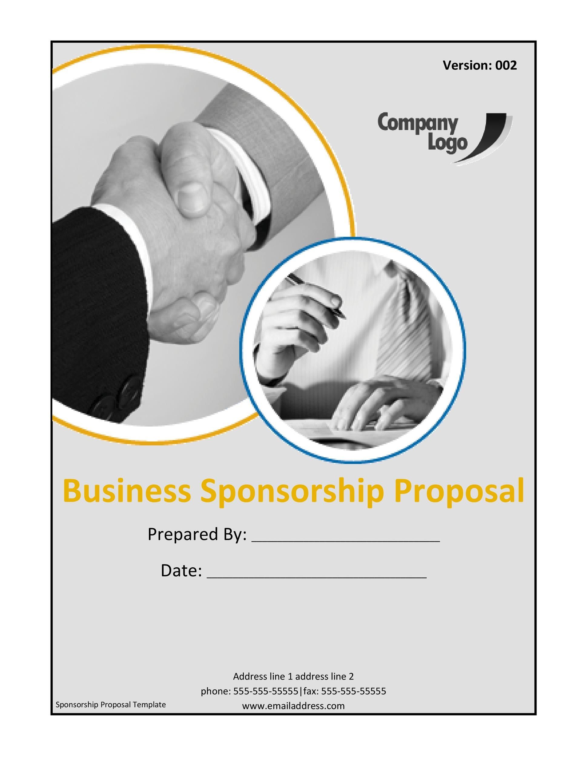 Sponsorship Letter & Proposal Templates