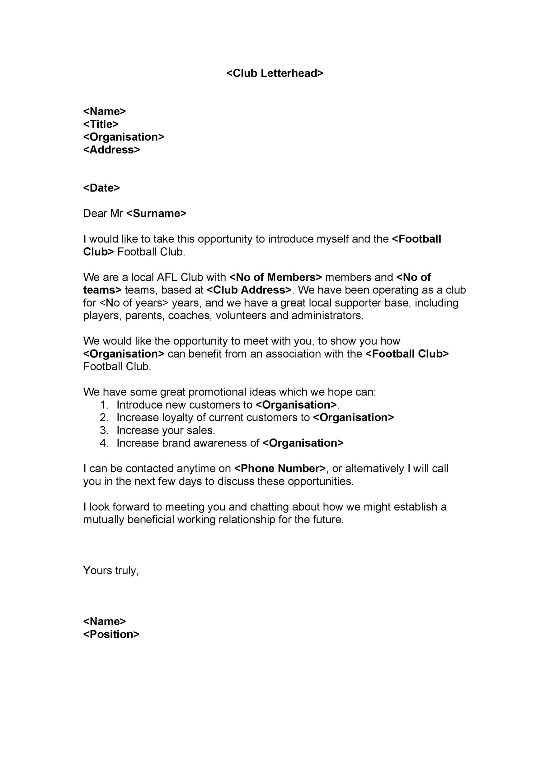 Free Sponsorship Letter Template 32