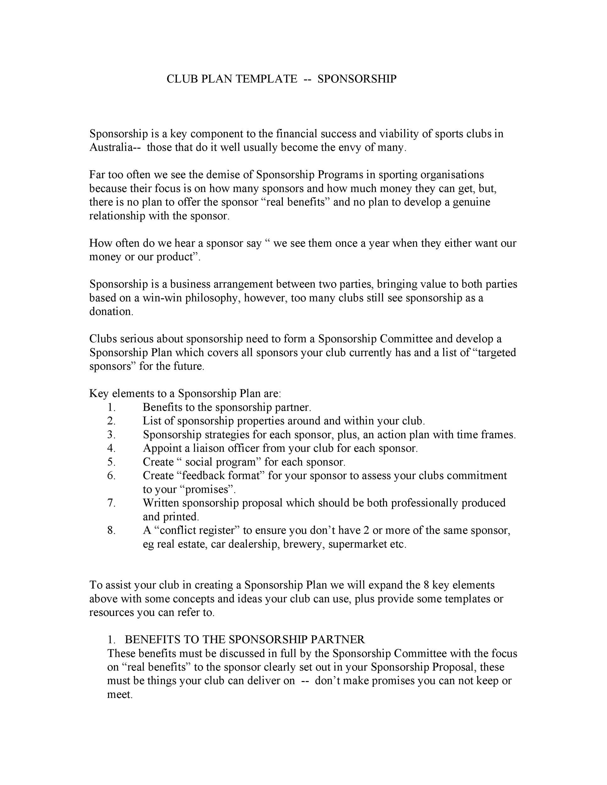 Free Sponsorship Letter Template 33