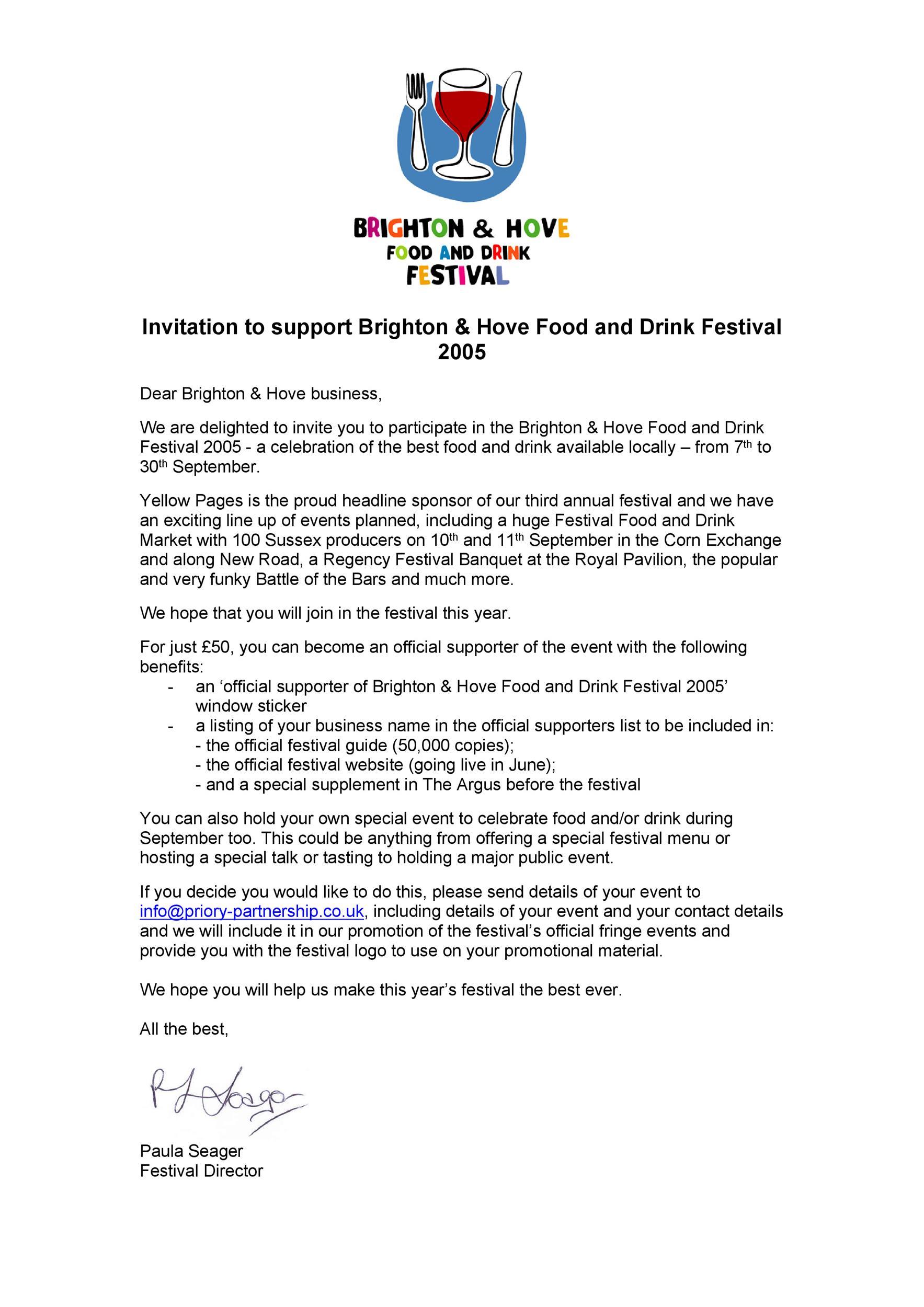 Free Sponsorship Letter Template 34