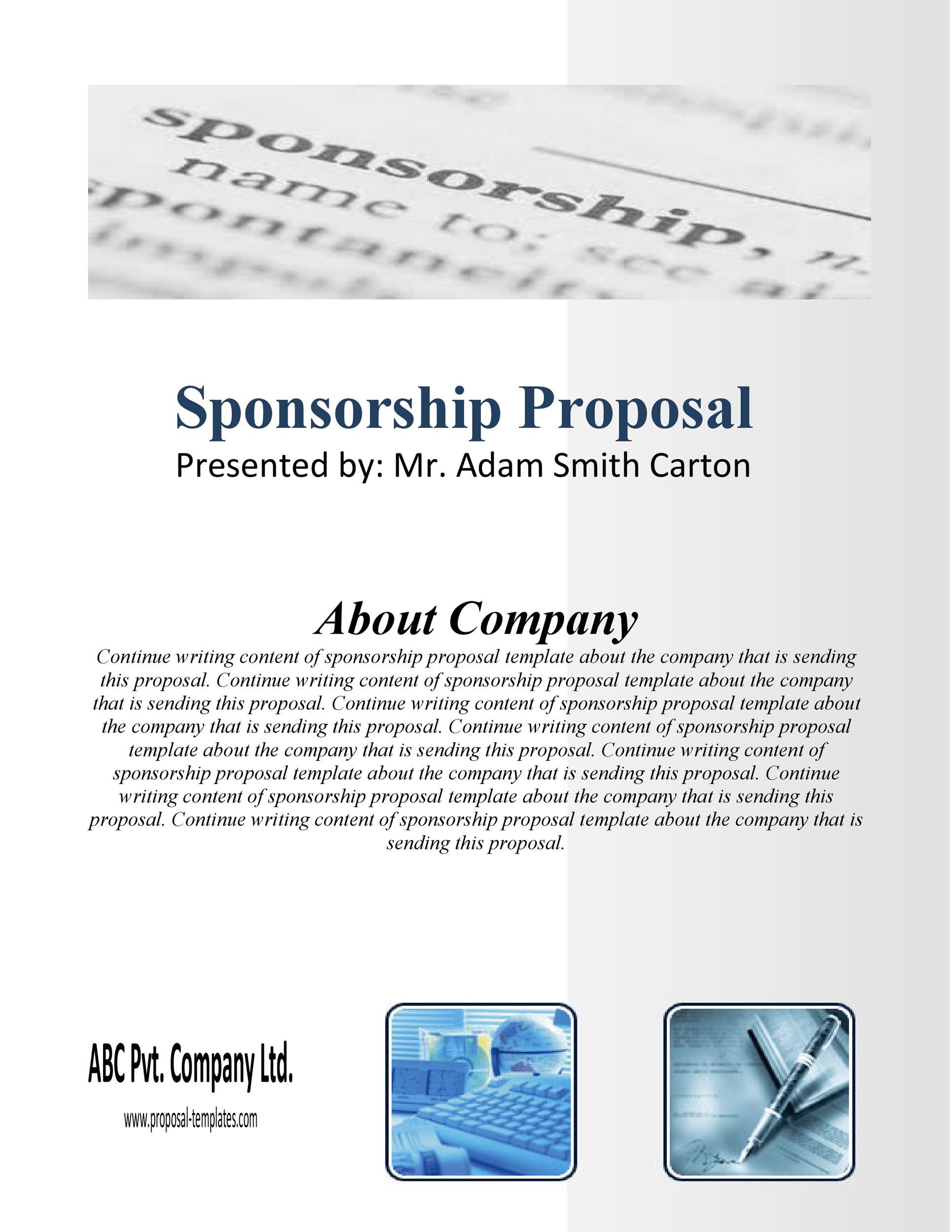 Free Sponsorship Letter Template 39