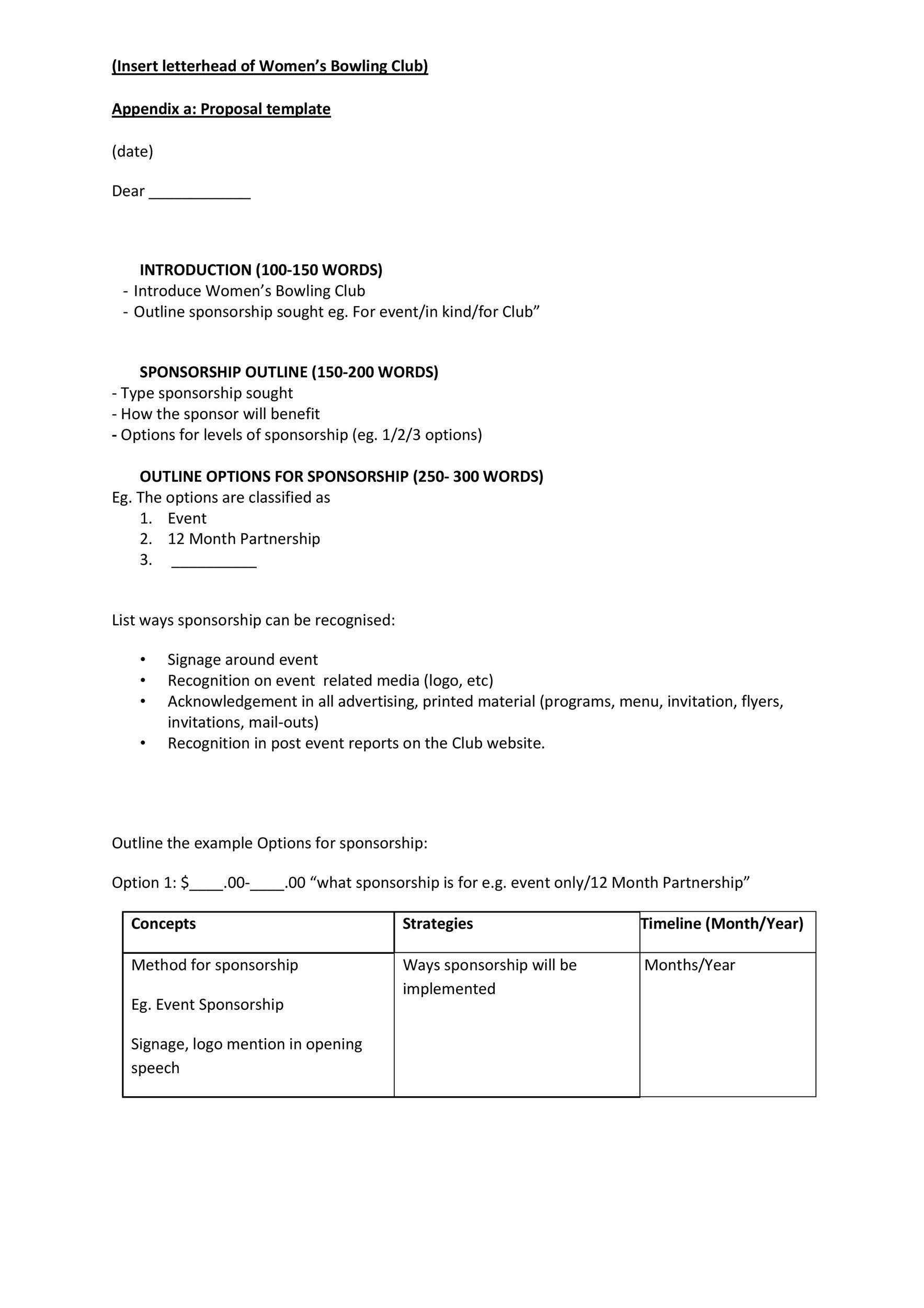 Free Sponsorship Letter Template 42