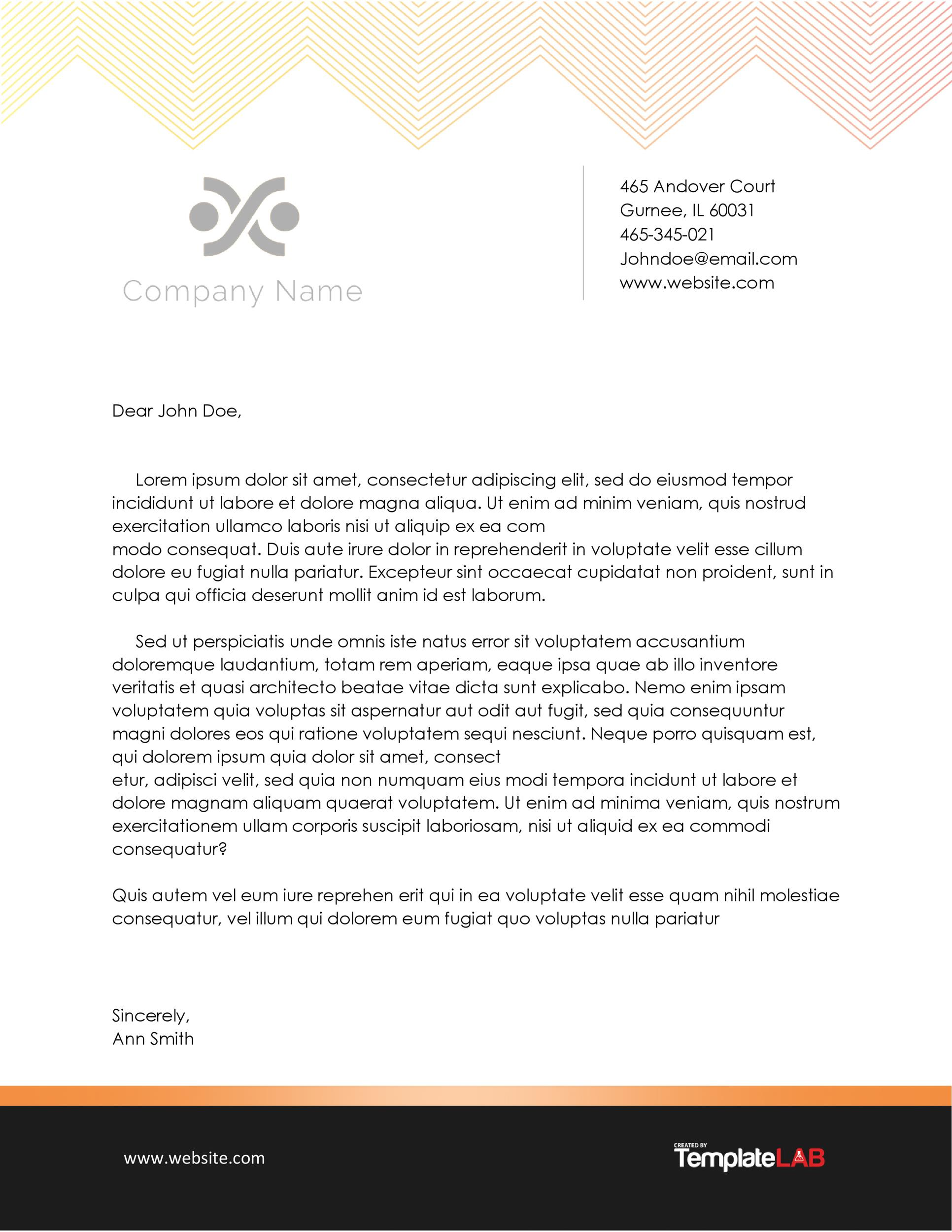 Free Business Letterhead Template 2 (Word) - TemplateLab Exclusive