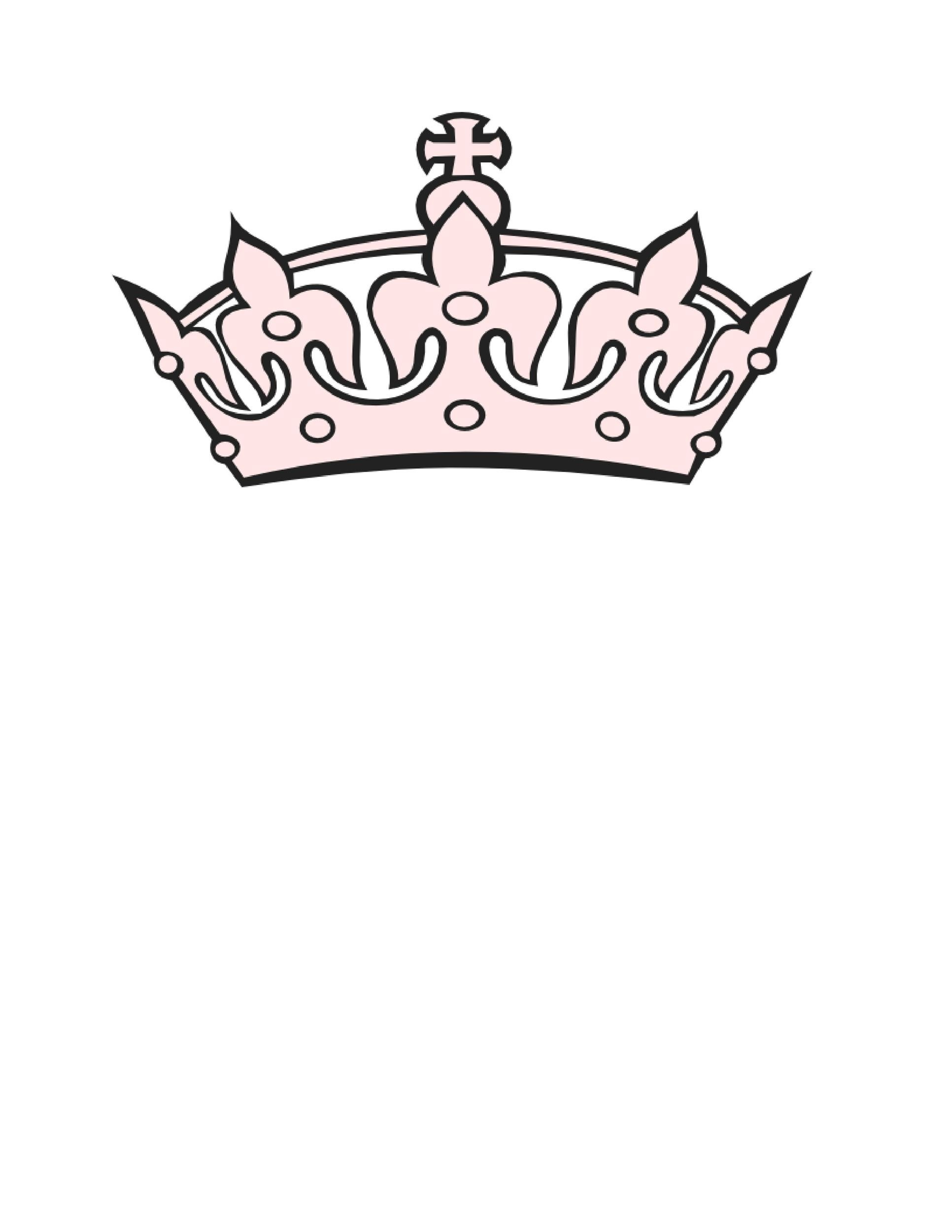 Crown Template. Crown Pattern Use The Printable Outline For Crafts