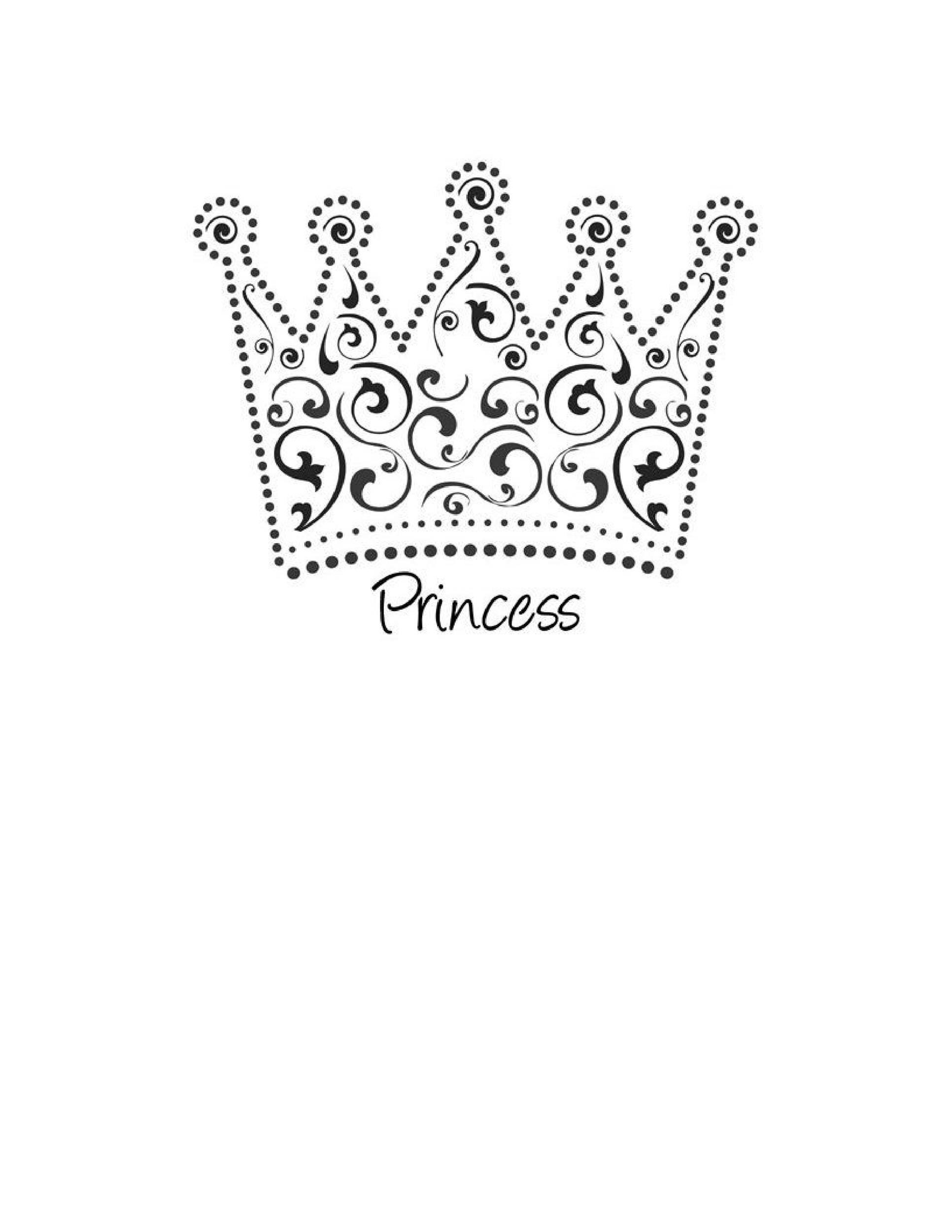 image relating to Crown Stencil Printable named 45 Free of charge Paper Crown Templates ᐅ Template Lab