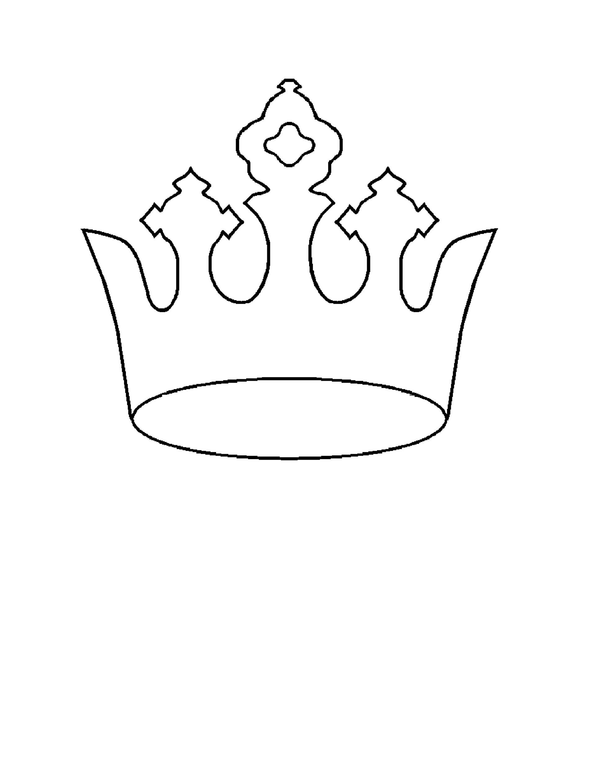 graphic regarding Crown Stencil Printable identify 45 Cost-free Paper Crown Templates ᐅ Template Lab