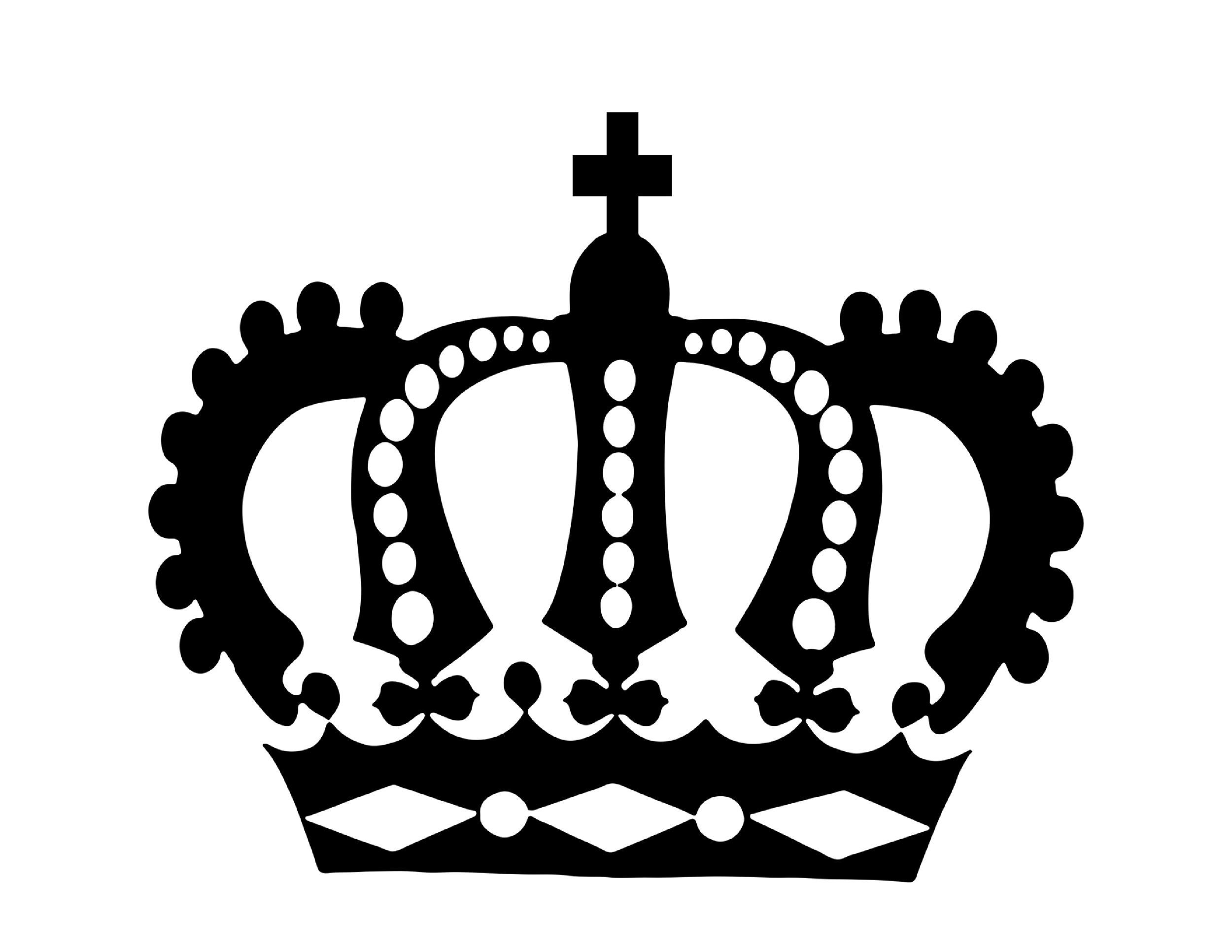 Simple king crown outline - photo#13