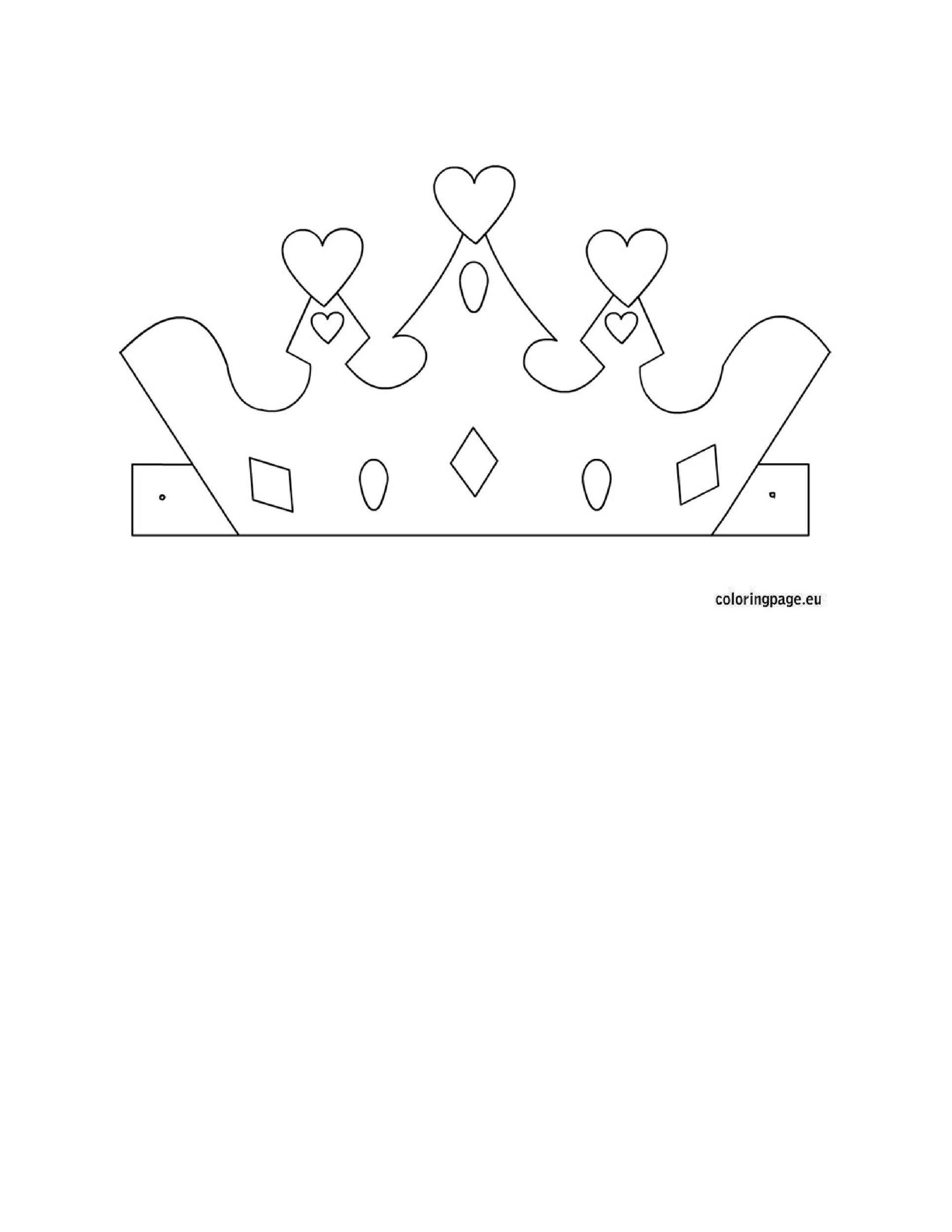 photograph relating to Crown Stencil Printable called 45 Totally free Paper Crown Templates ᐅ Template Lab
