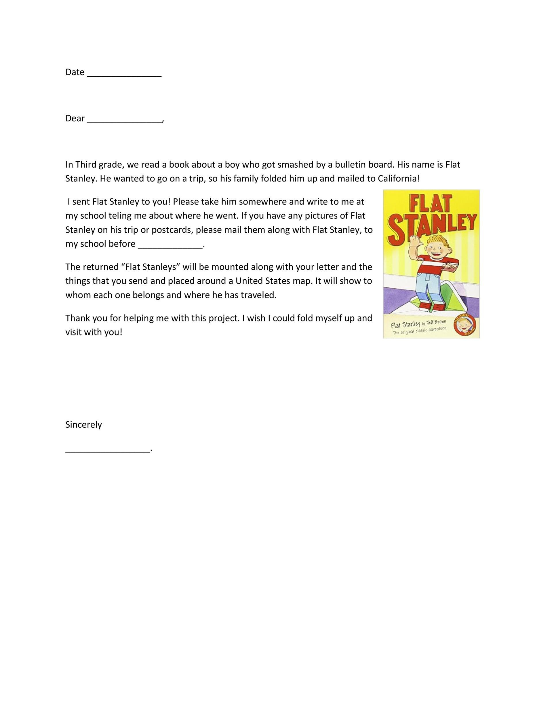 37 flat stanley templates letter examples template lab