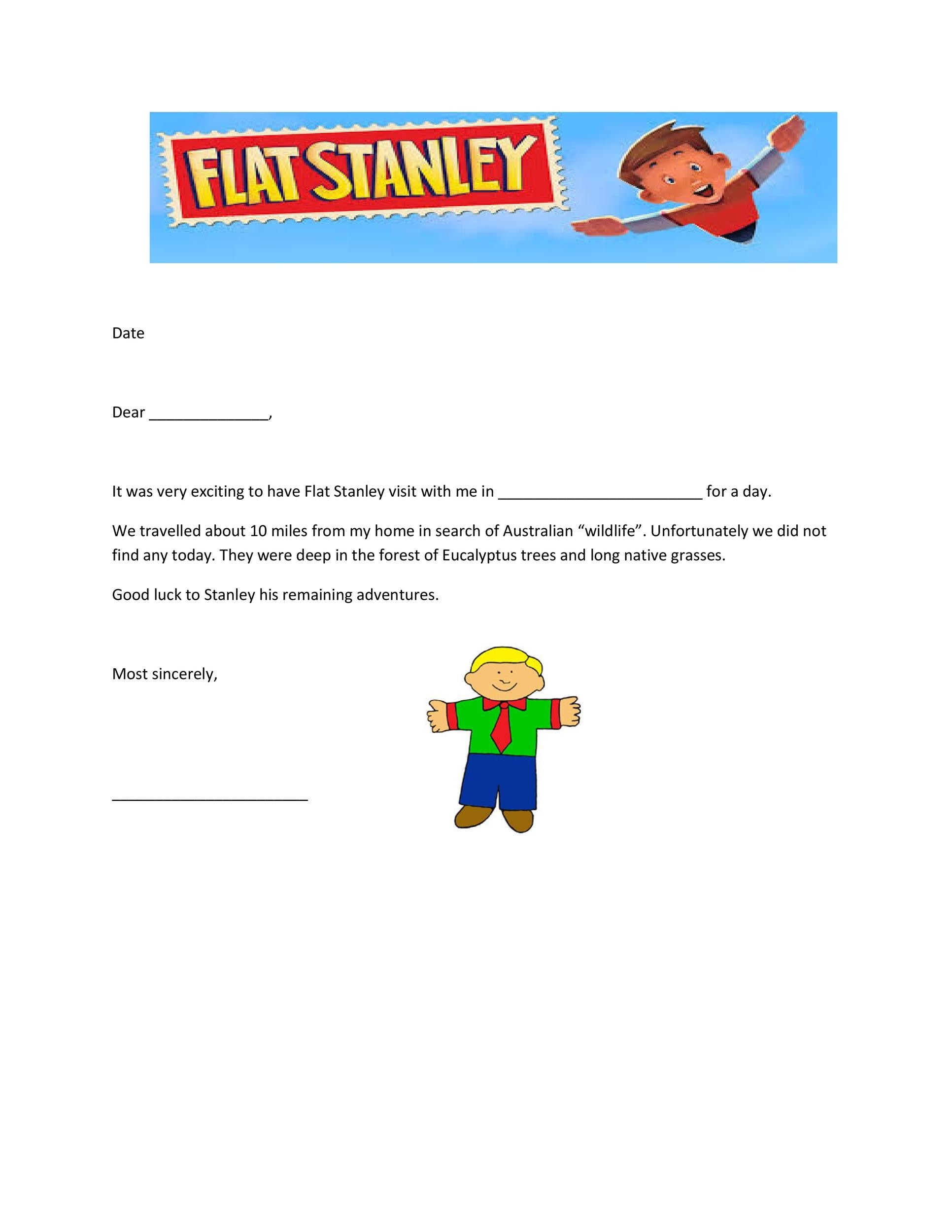 picture about Flat Stanley Printable Templates known as 37 Flat Stanley Templates Letter Illustrations ᐅ Template Lab