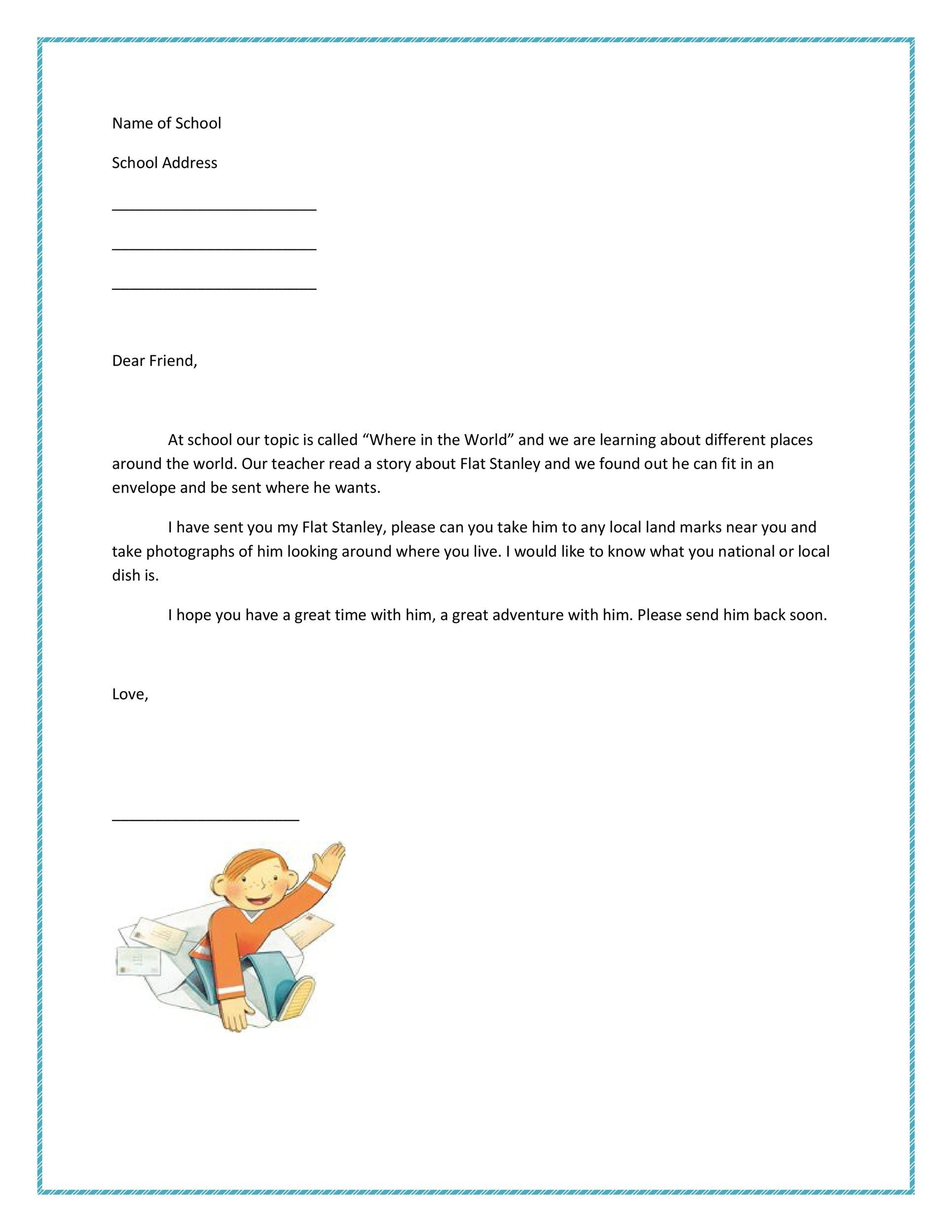 Free Flat Stanley template 12