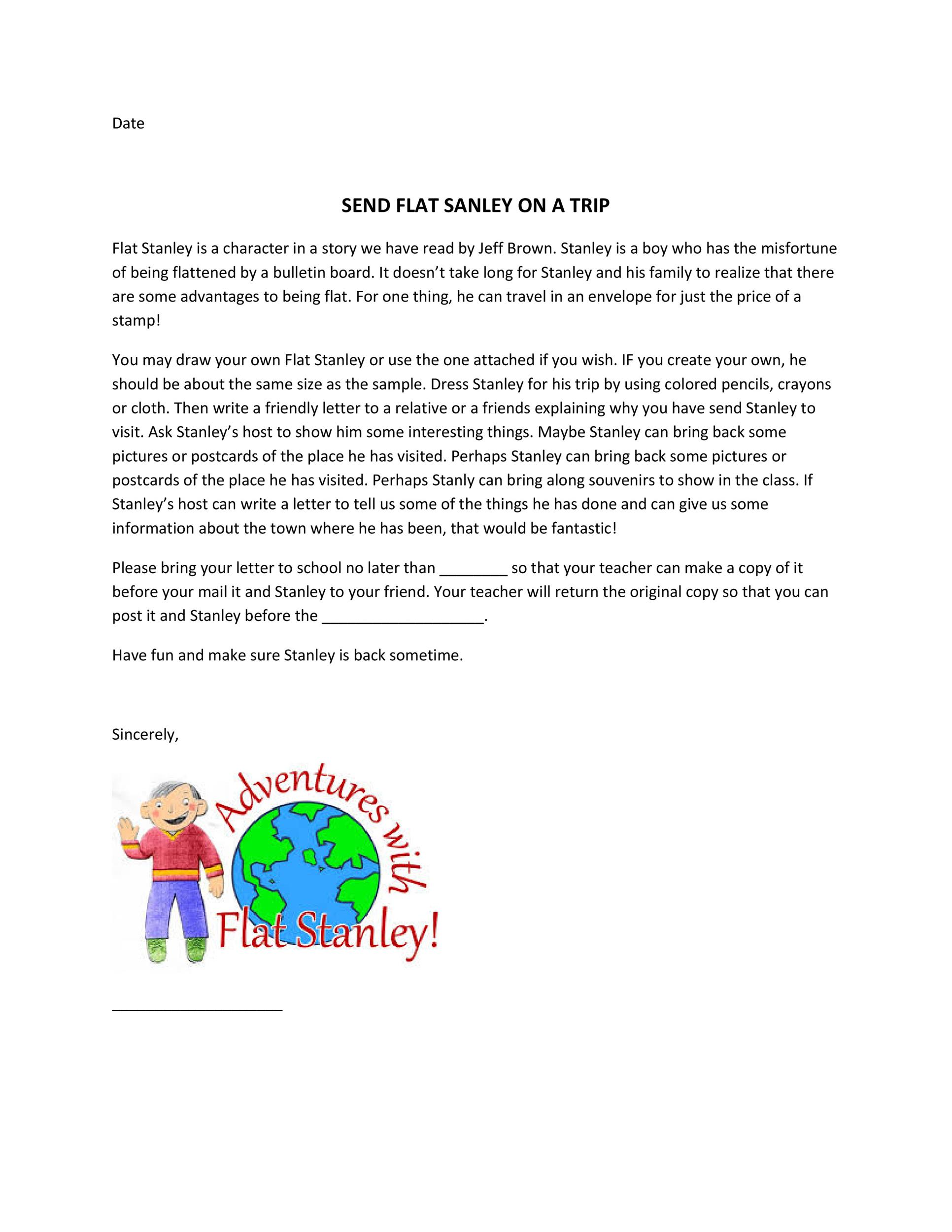 Free Flat Stanley template 14