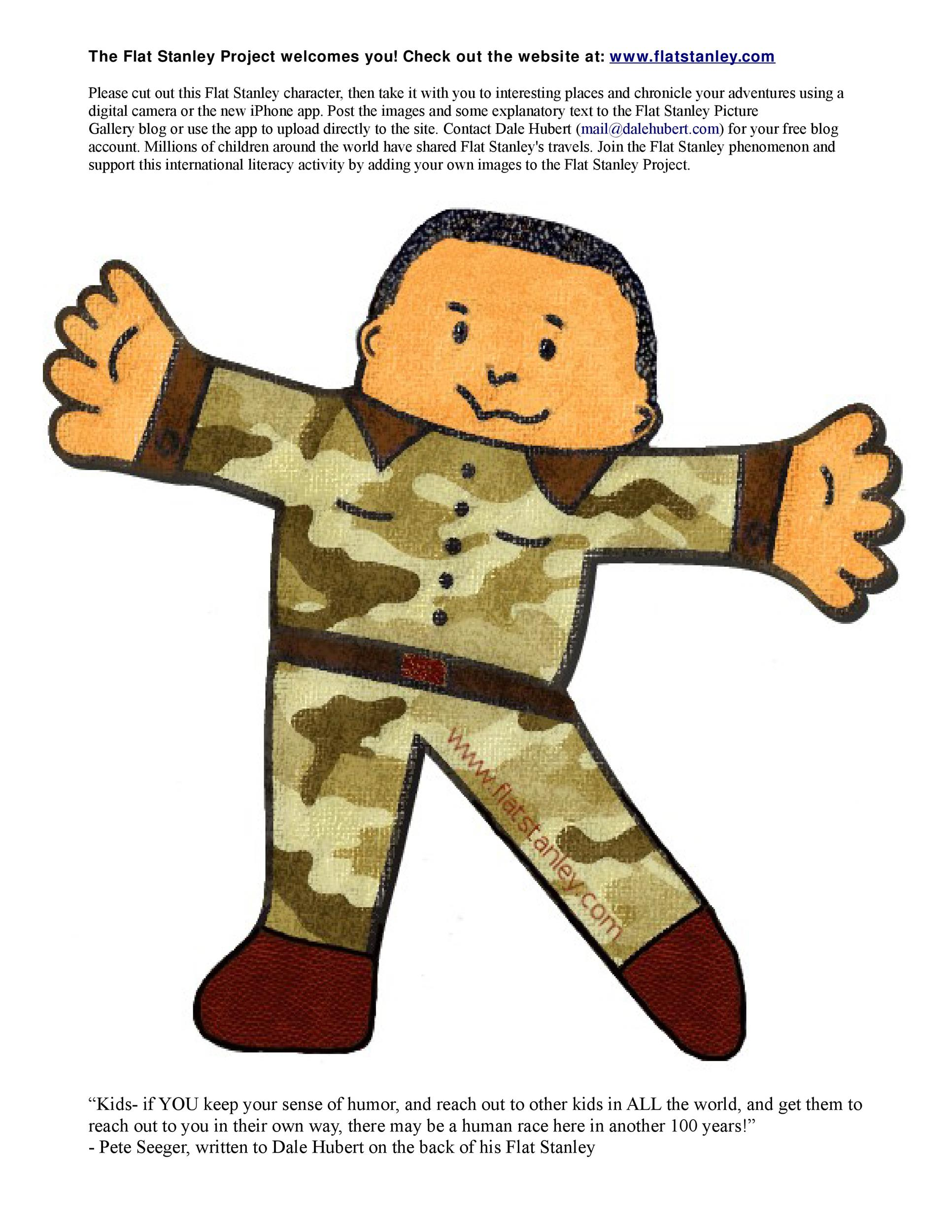 Free Flat Stanley Template 19