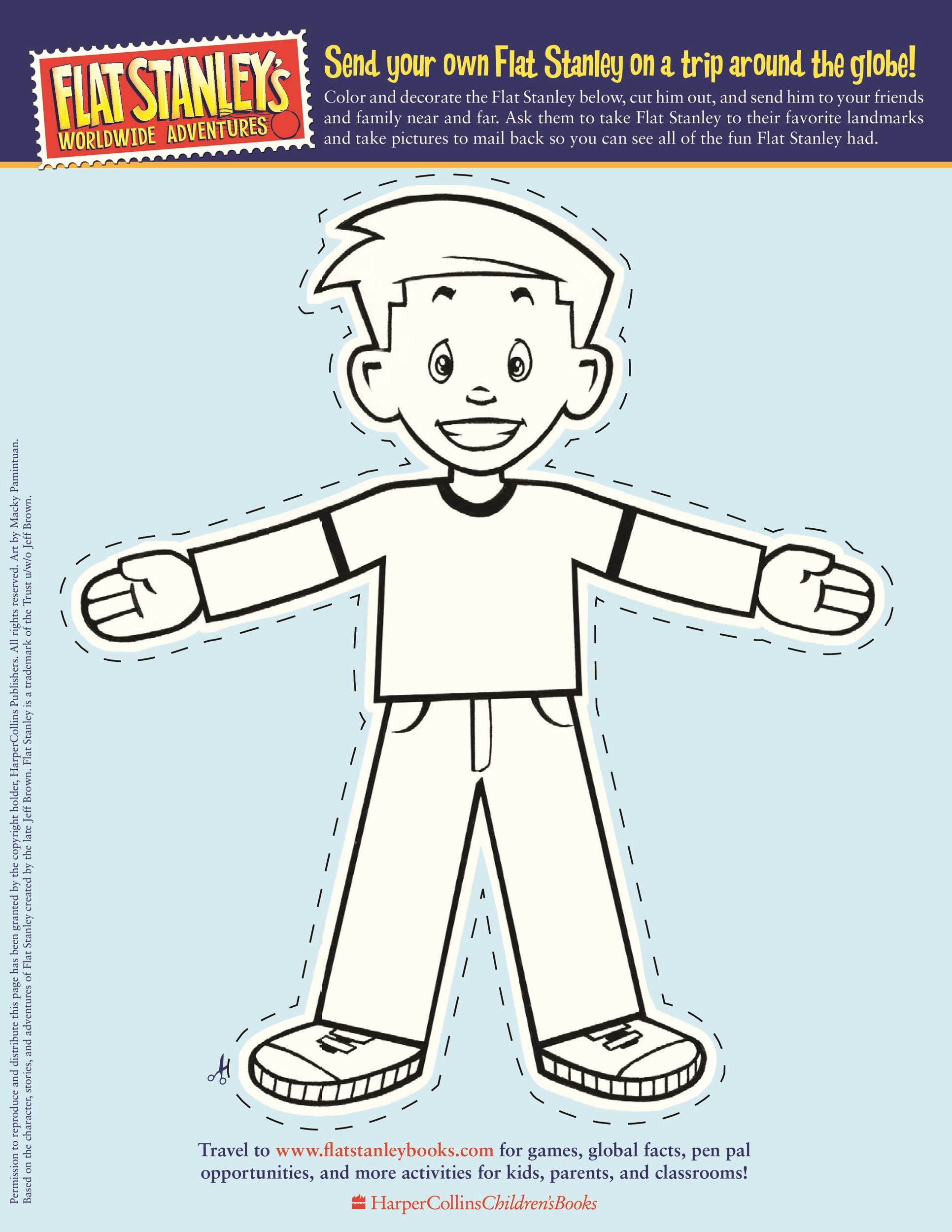 Free Flat Stanley Template 20