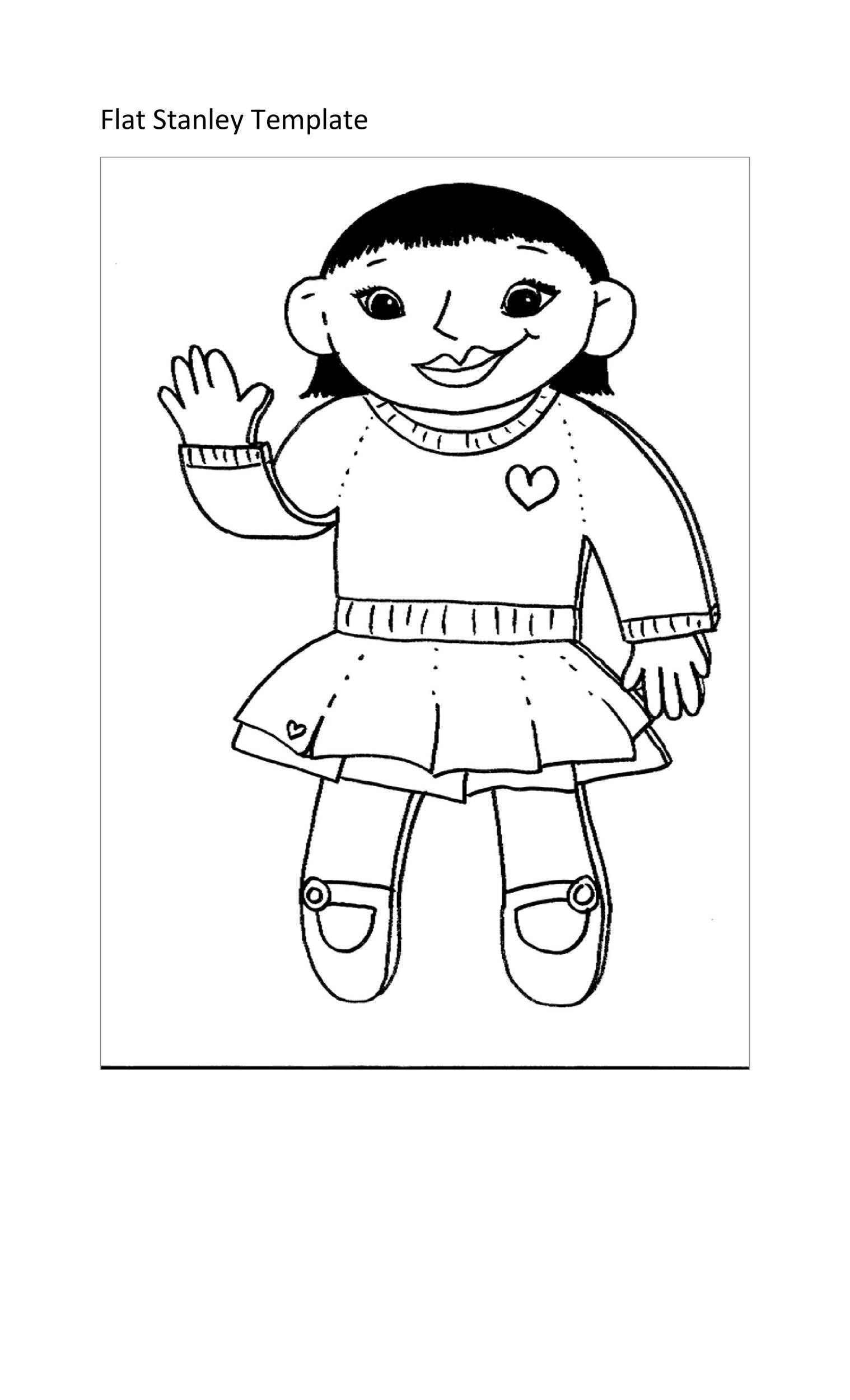 Free Flat Stanley Template 29
