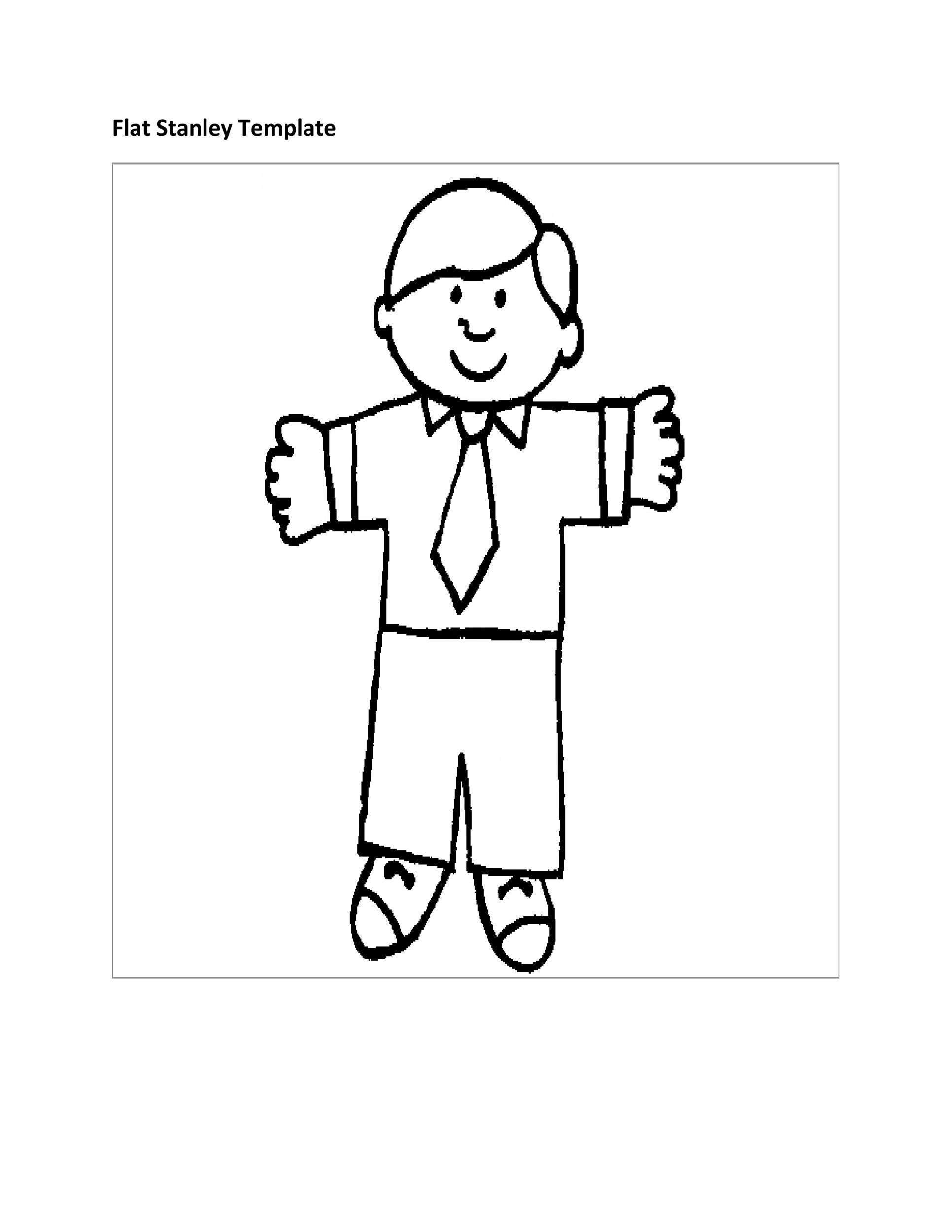 Free Flat Stanley Template 33