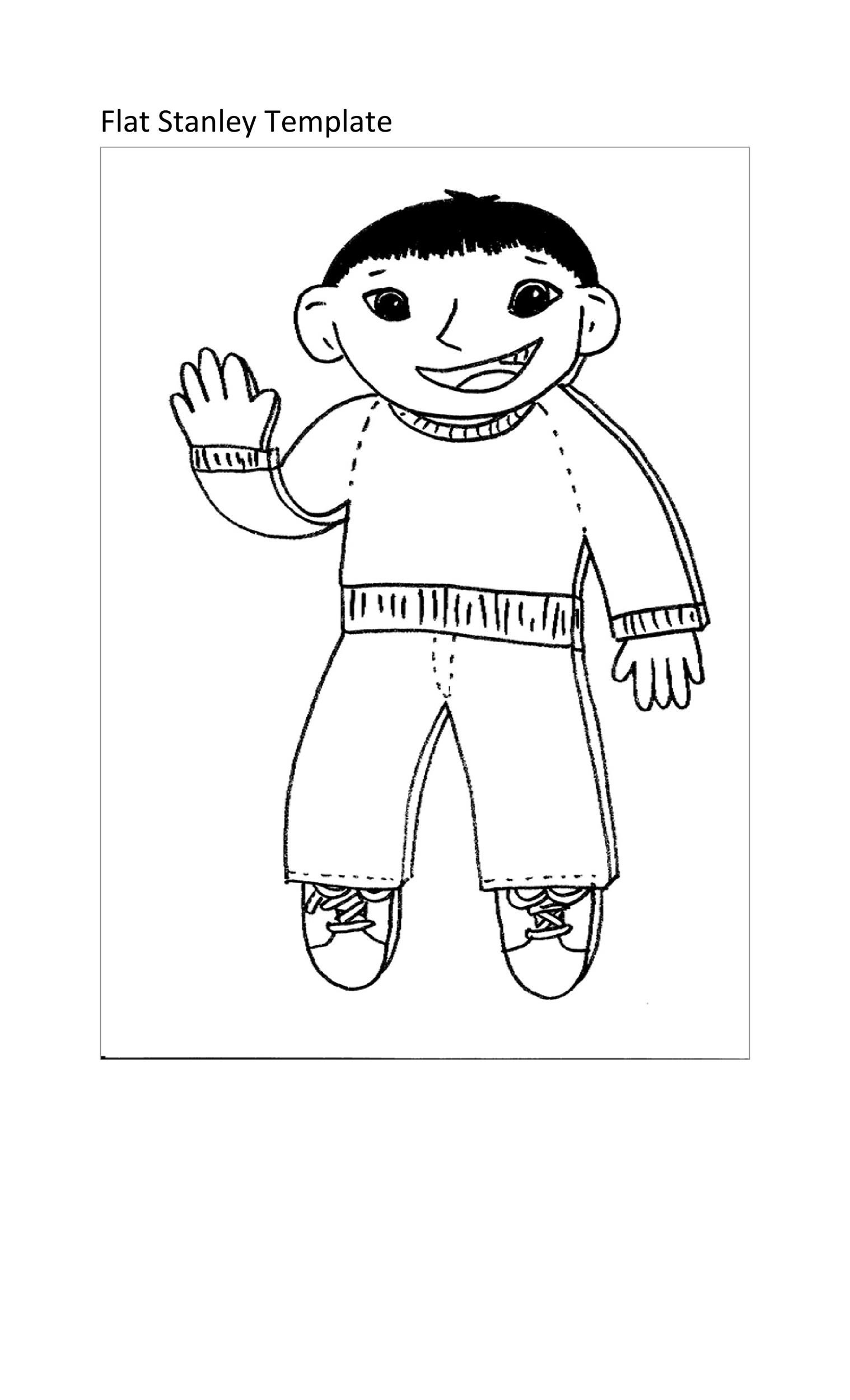 Free Flat Stanley Template 36