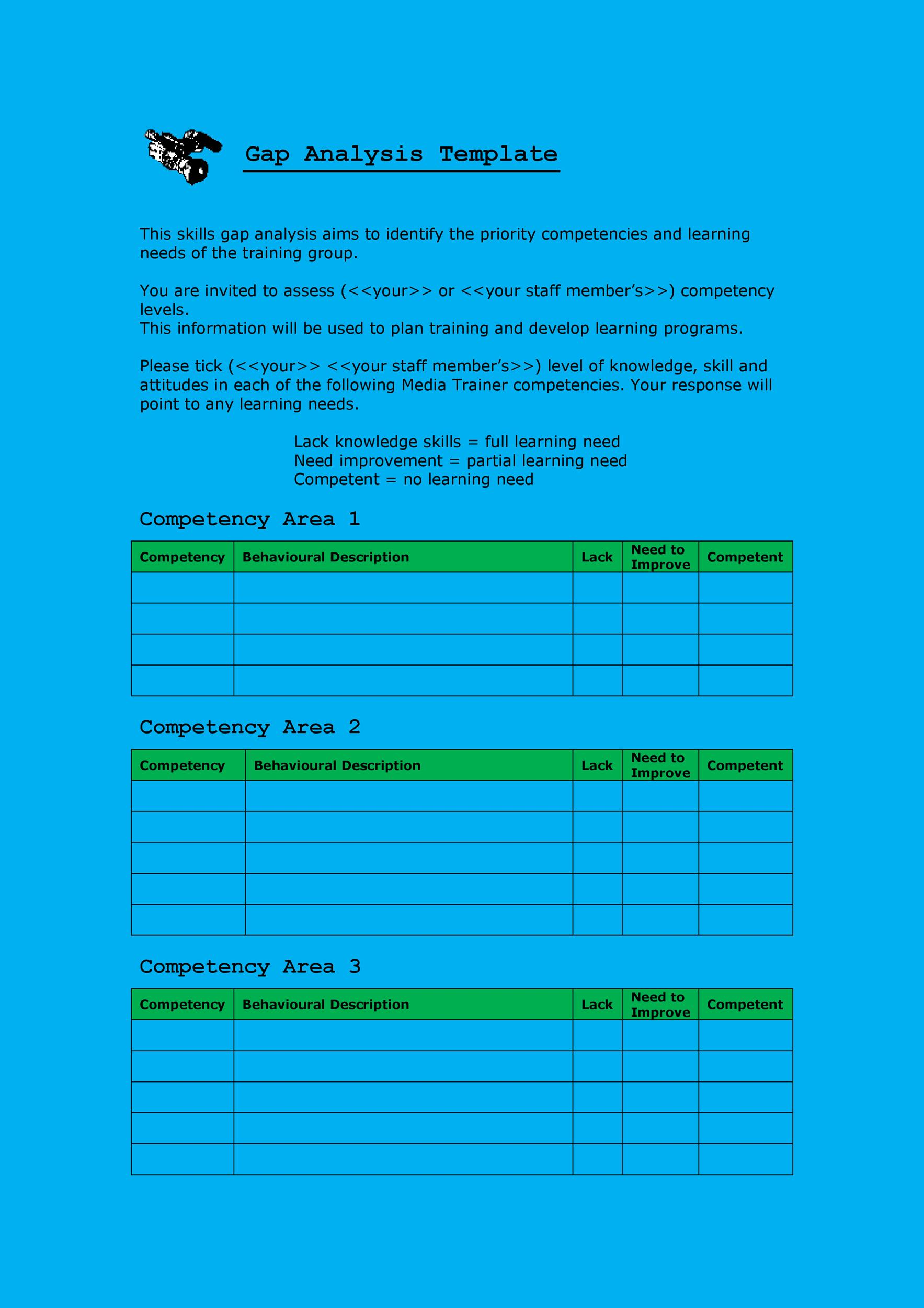 40 Gap Analysis Templates & Exmaples (Word, Excel, PDF)