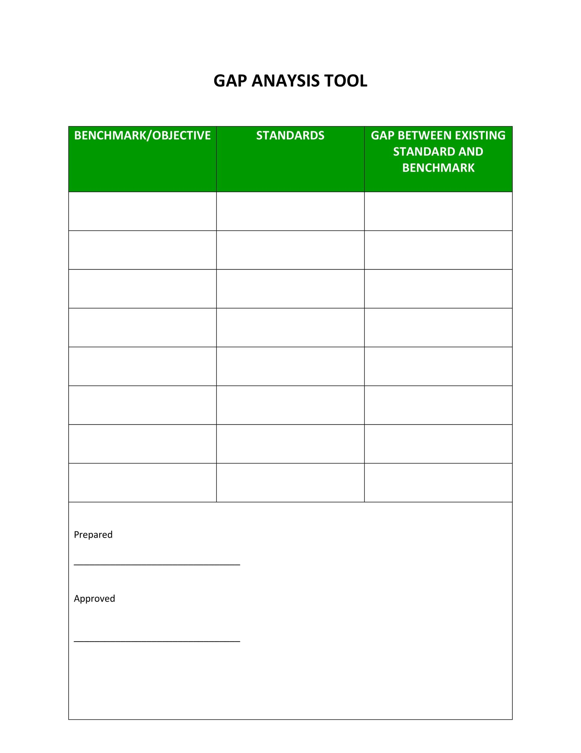 Free Gap Analysis Template 14