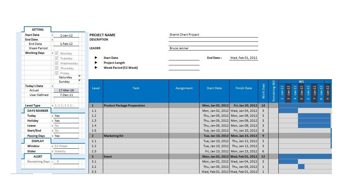 Free Grantt Chart Template 10