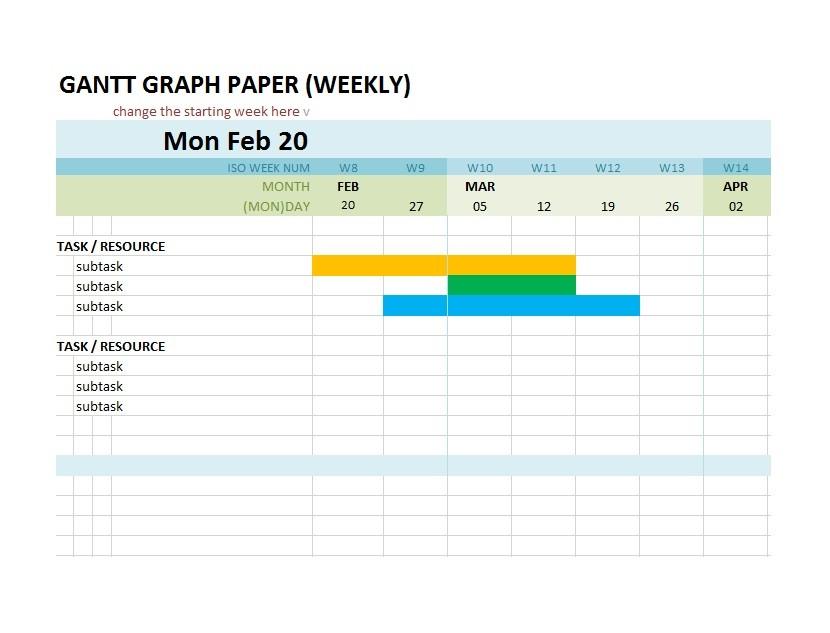 Free Grantt Chart Template 15