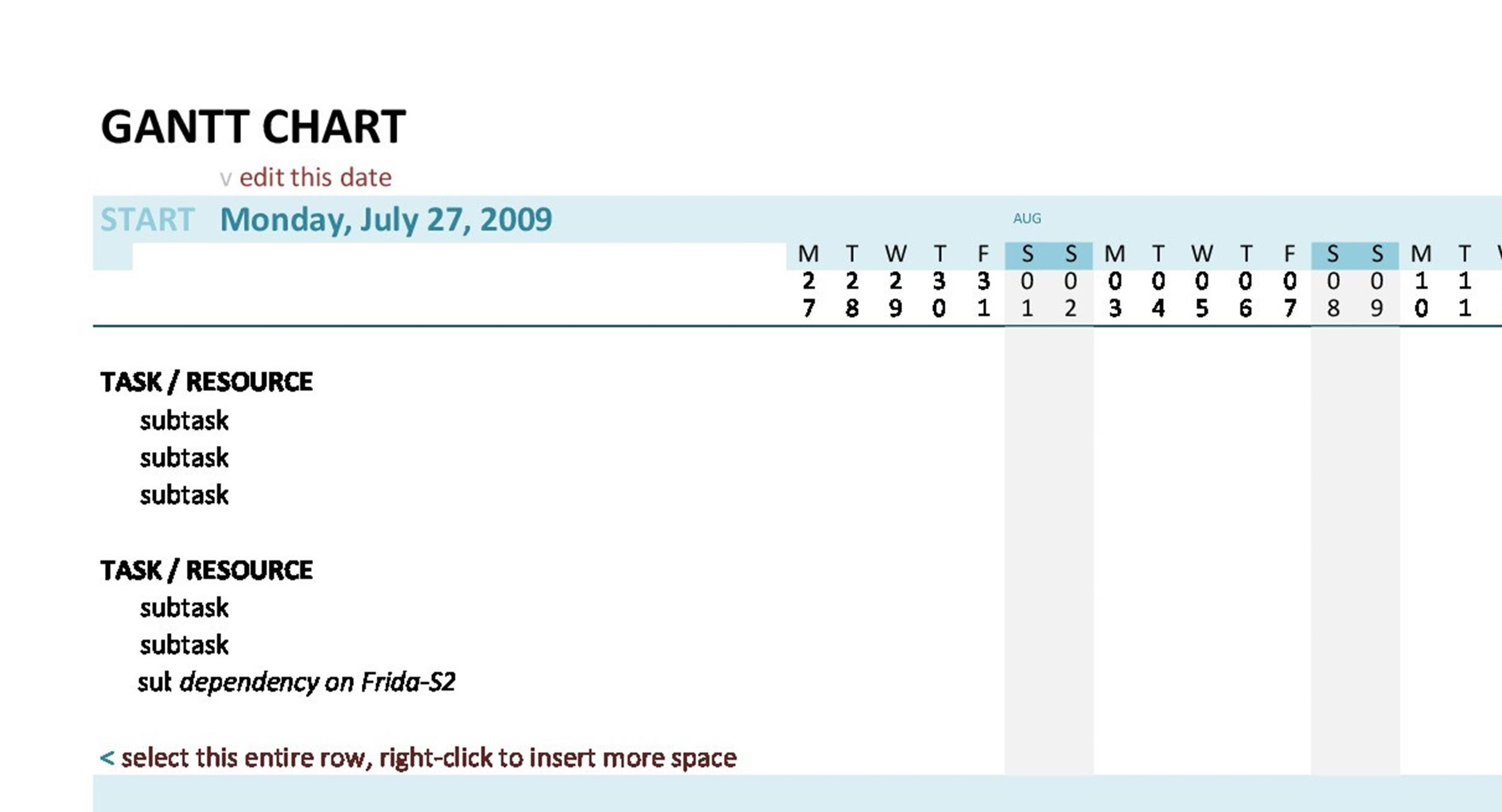 Free Grantt Chart Template 16