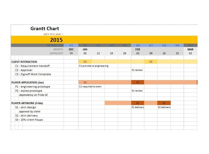 Free Grantt Chart Template 27