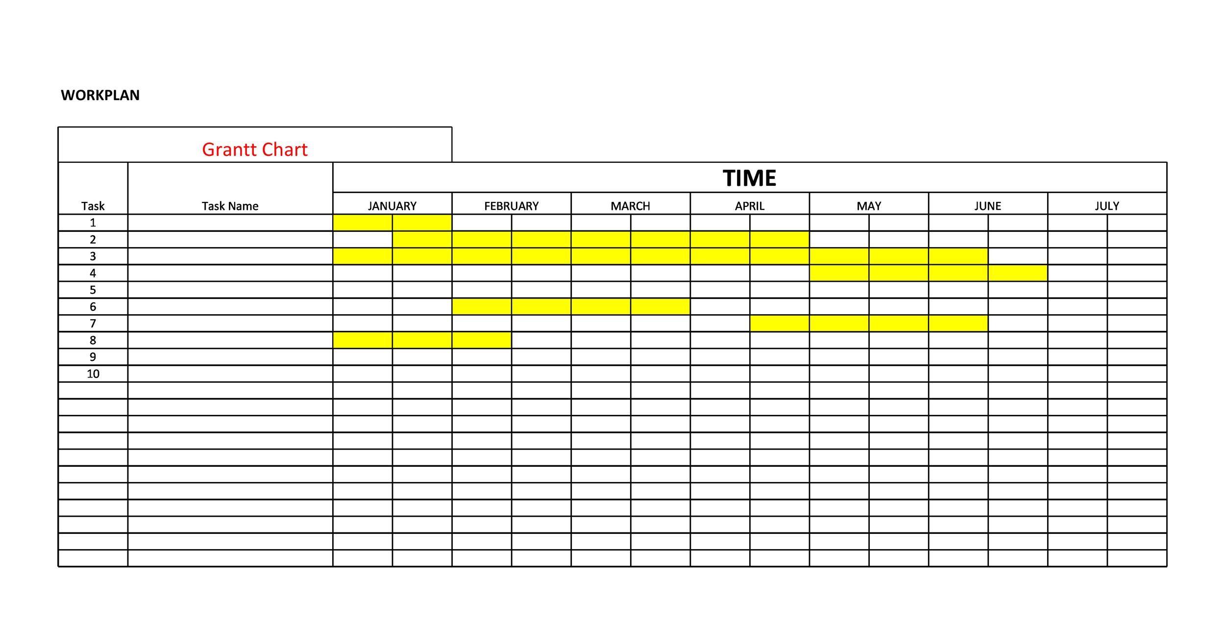 Free Grantt Chart Template 28
