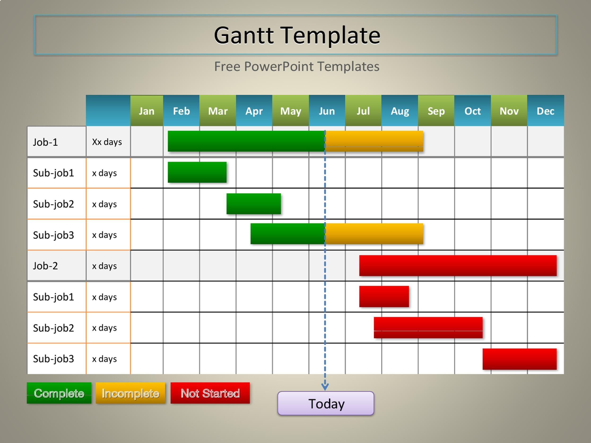 Free Grantt Chart Template 29