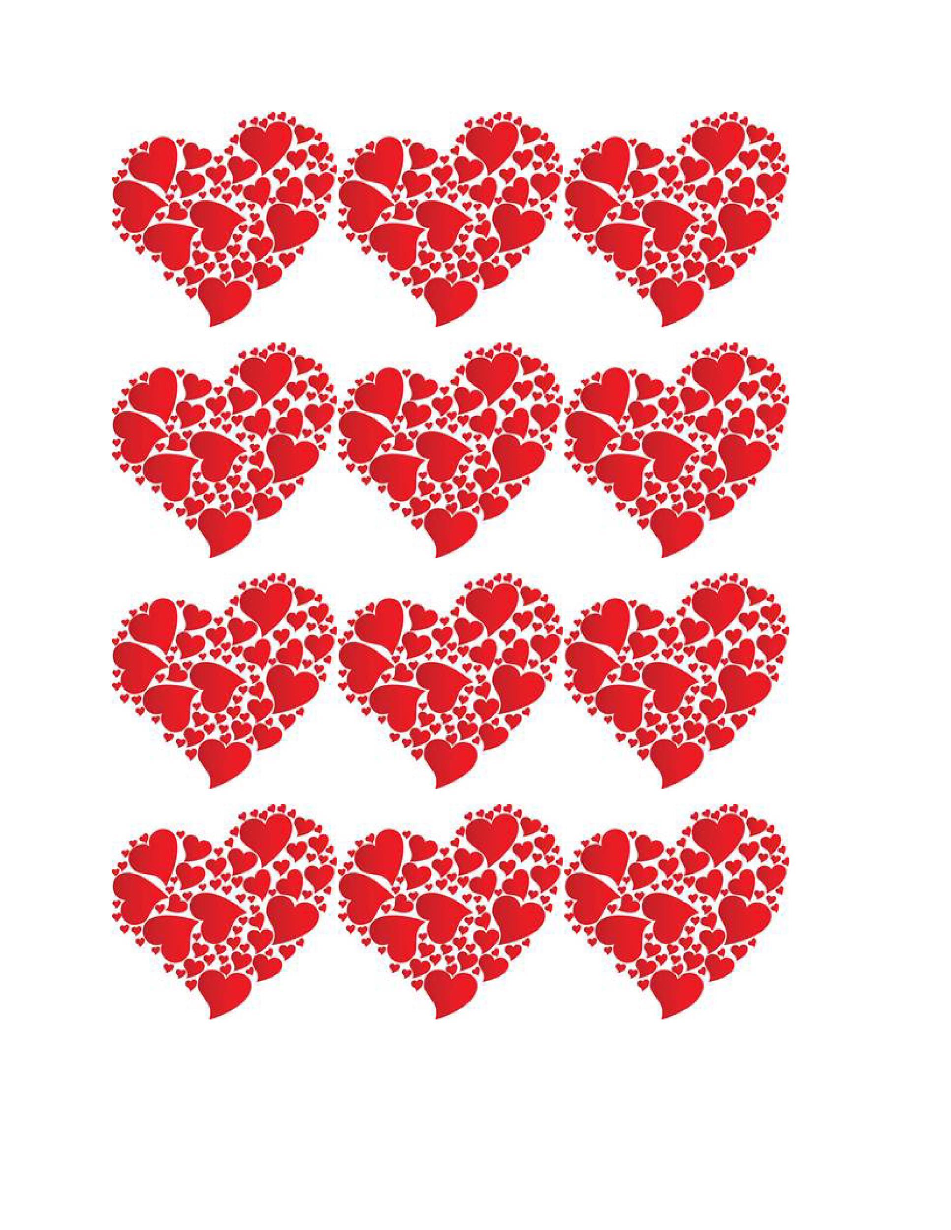 Free Heart Shape Template 05