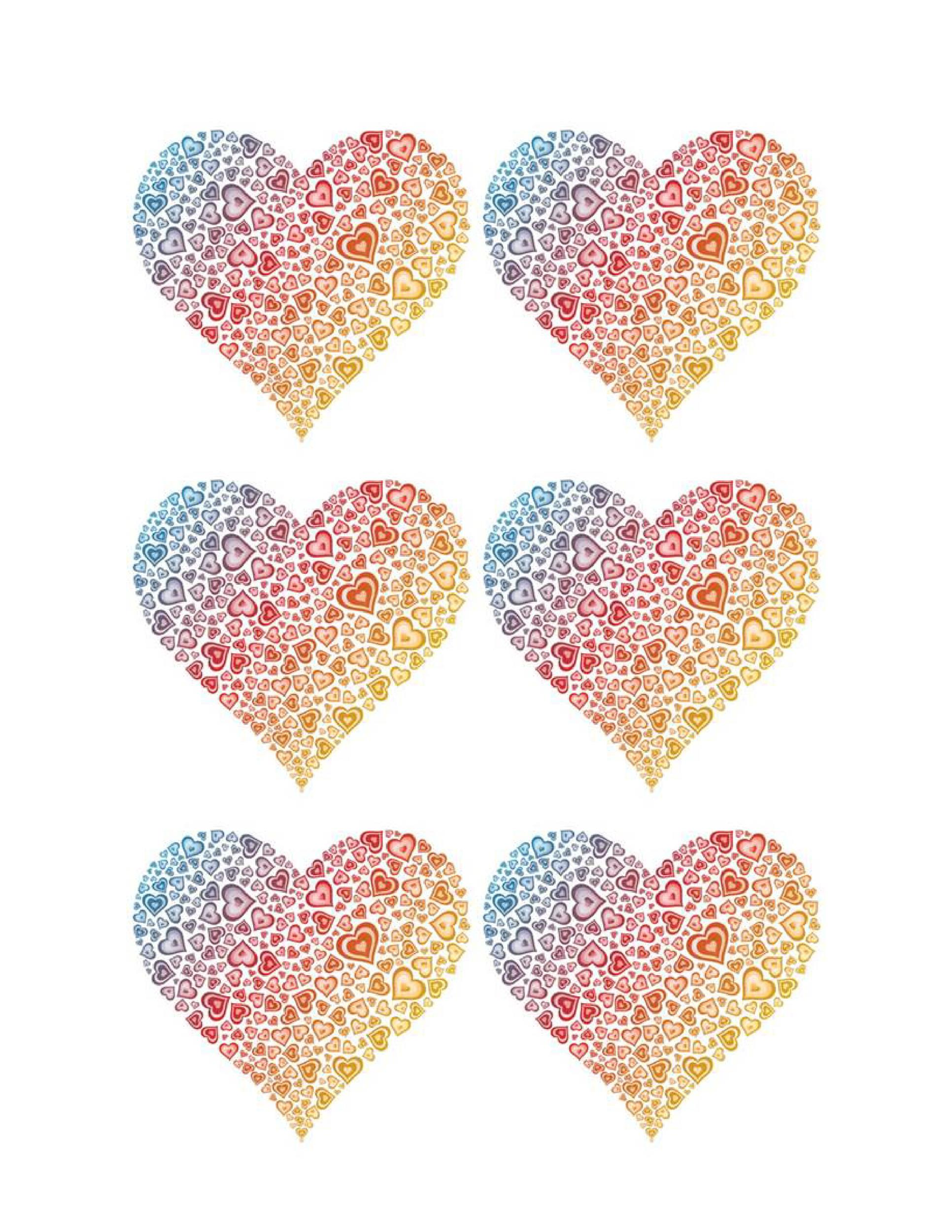 Free Heart Shape Template 09