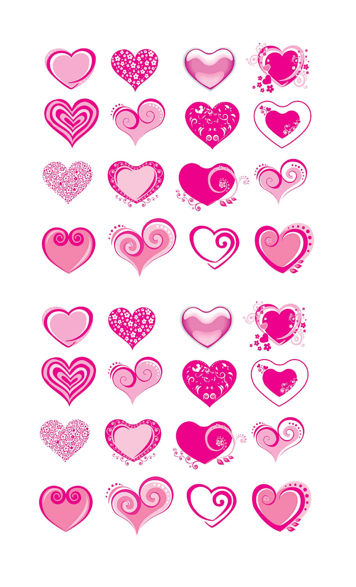 photograph regarding Hearts Printable named 40 Printable Center Templates 15 Consumption Illustrations