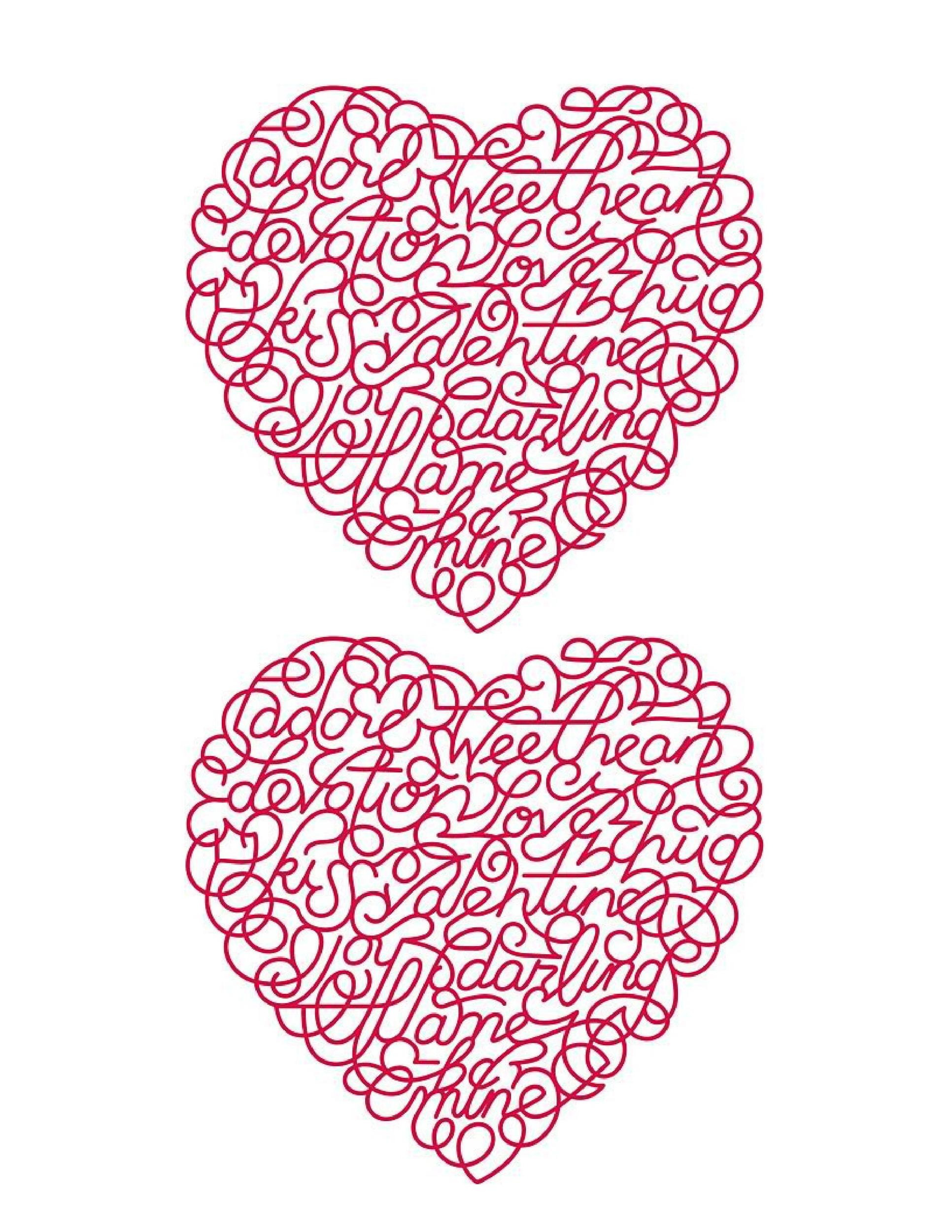 Printable Heart Templates   Usage Examples