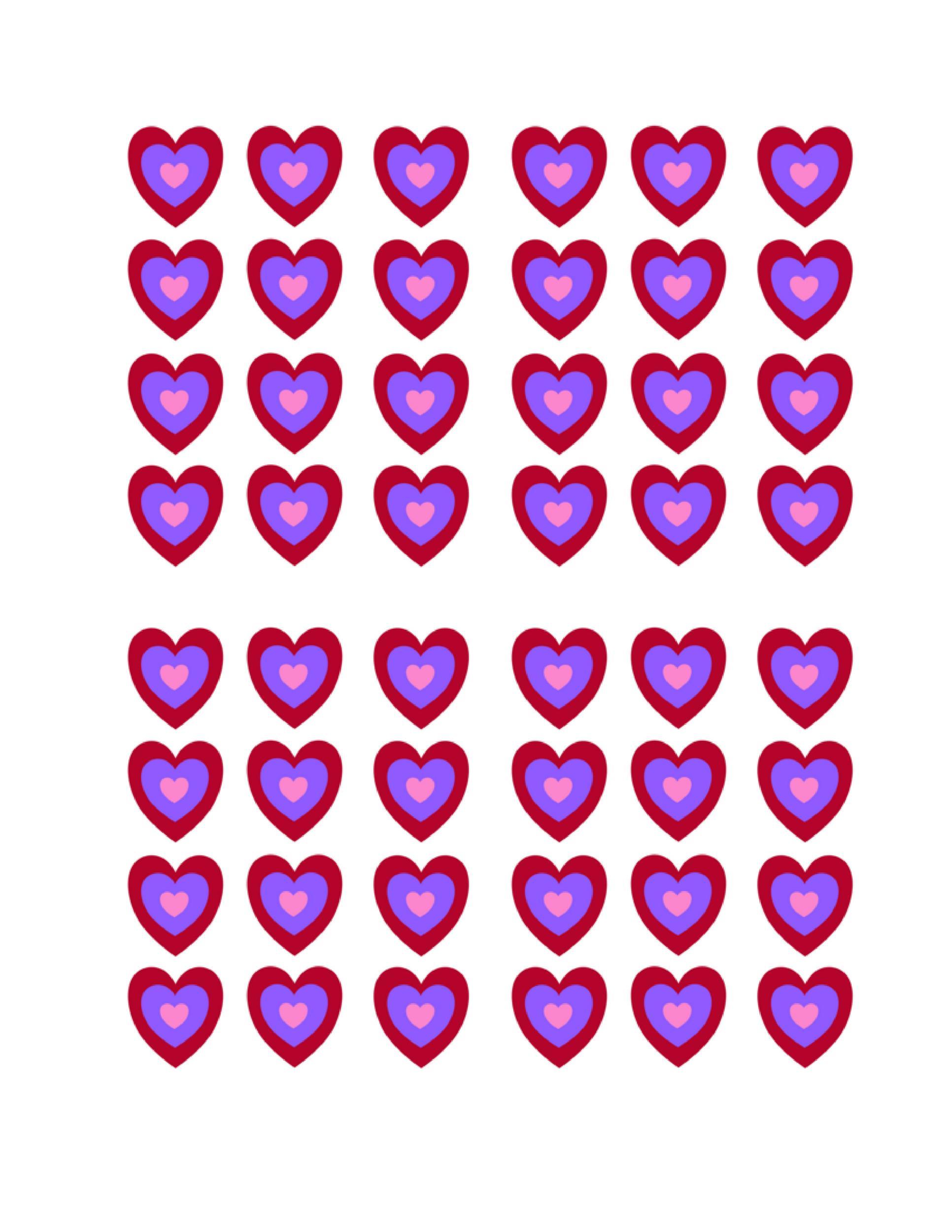 Free Heart Shape Template 15