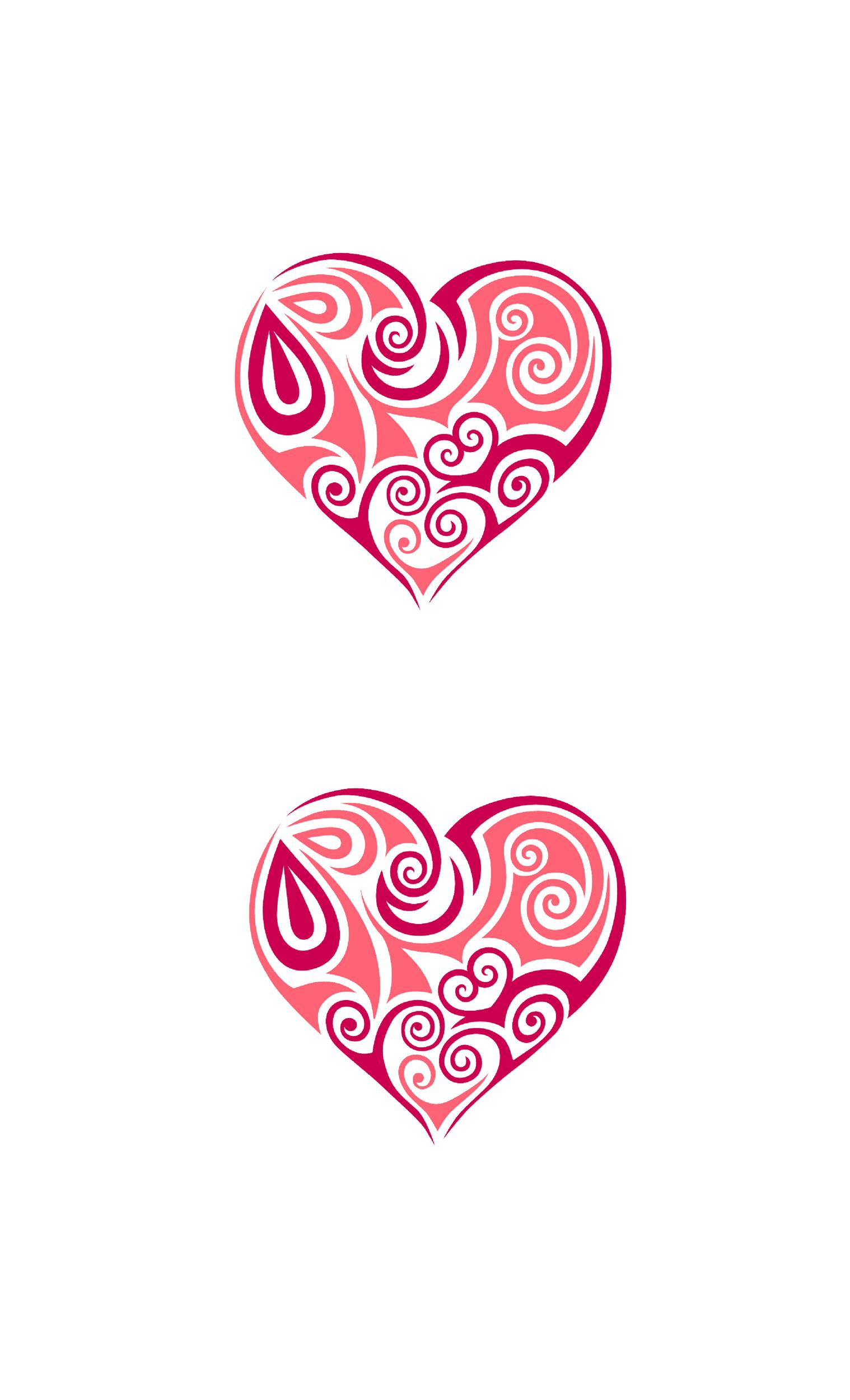 Heart shape Template 16