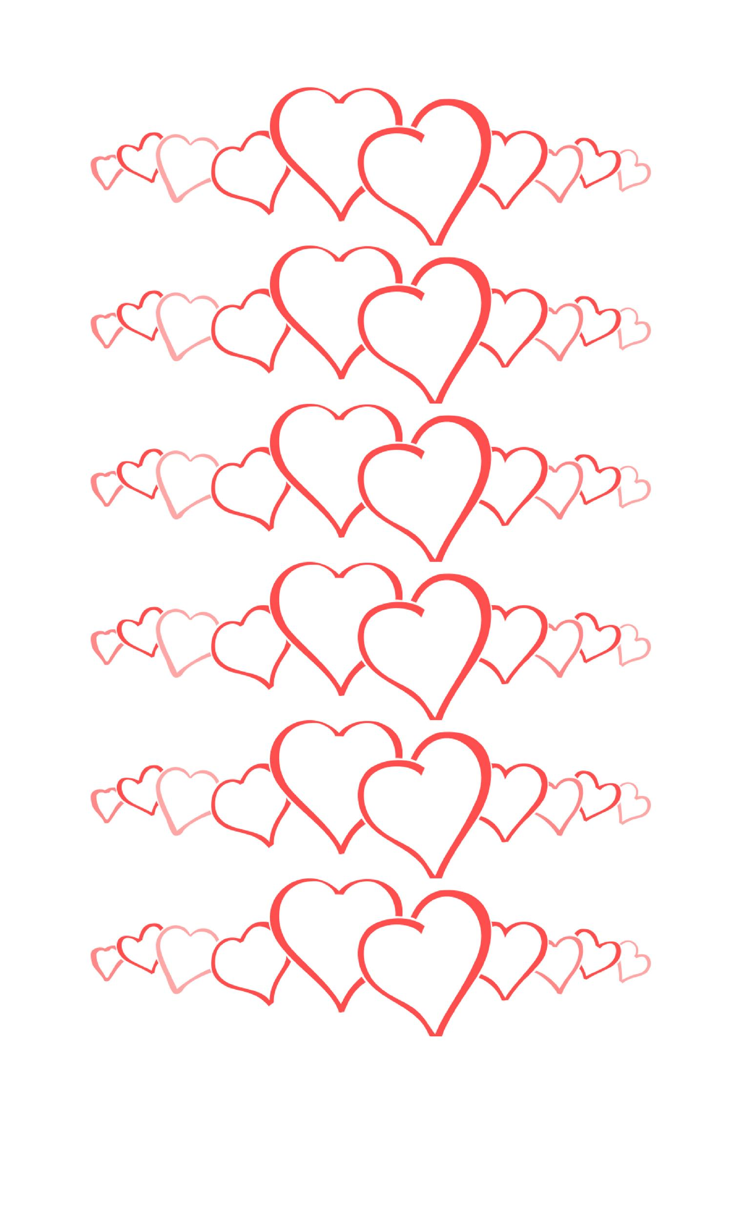 Heart shape Template 17
