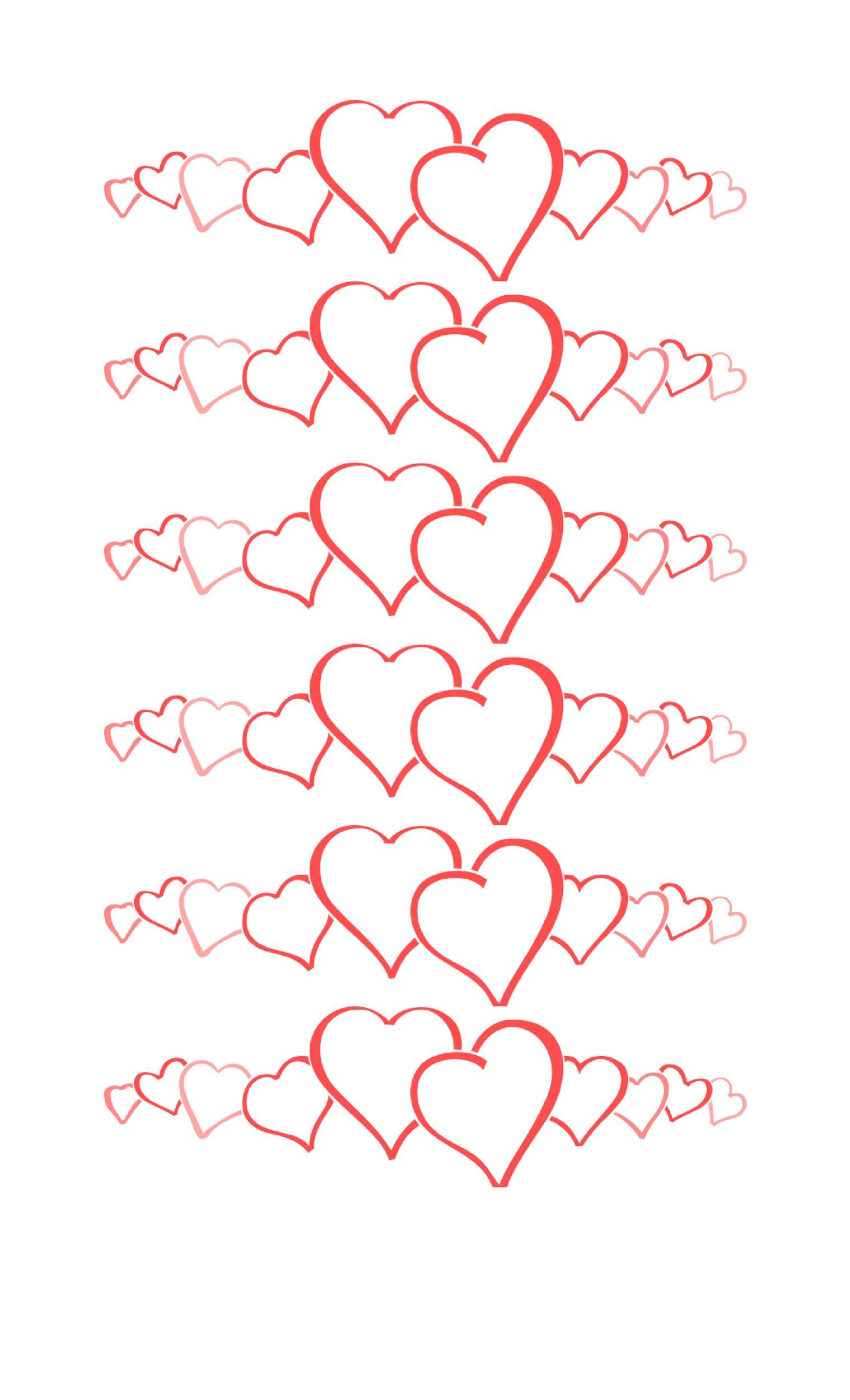 Free Heart Shape Template 17