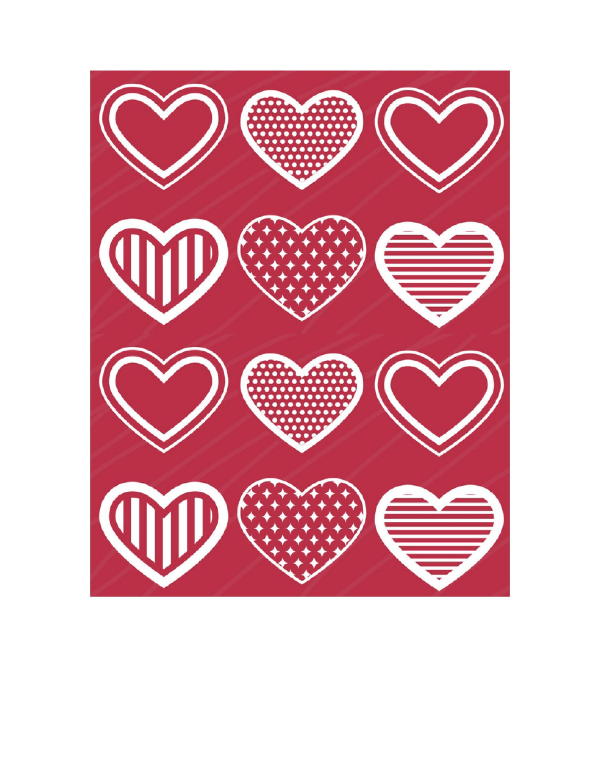 Heart shape Template 18