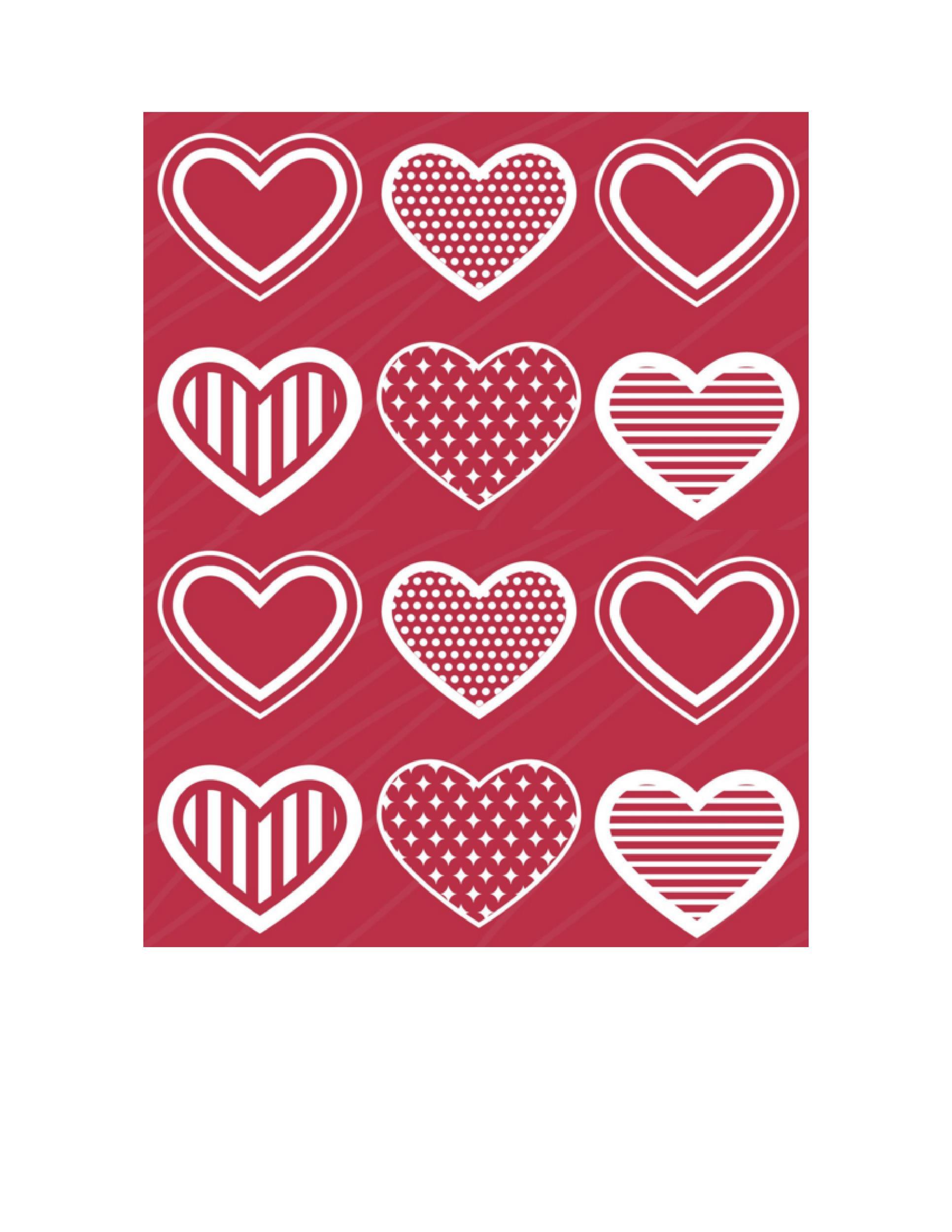 Free Heart Shape Template 18